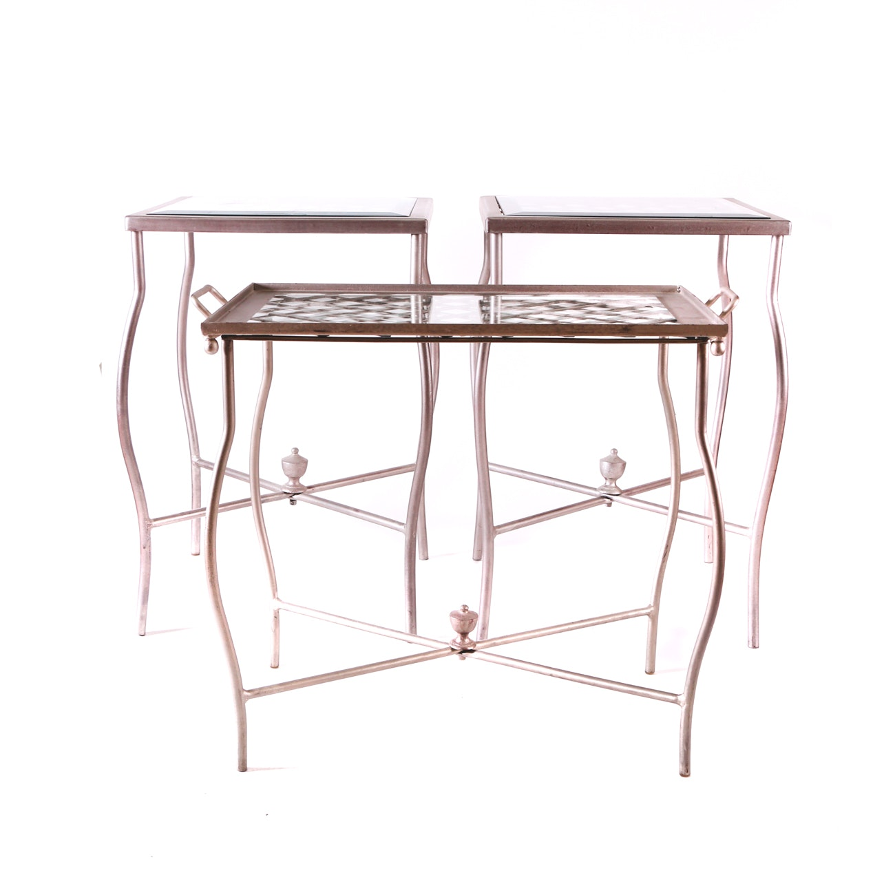 Collection of Modernist  Glass Top End and Tray Tables