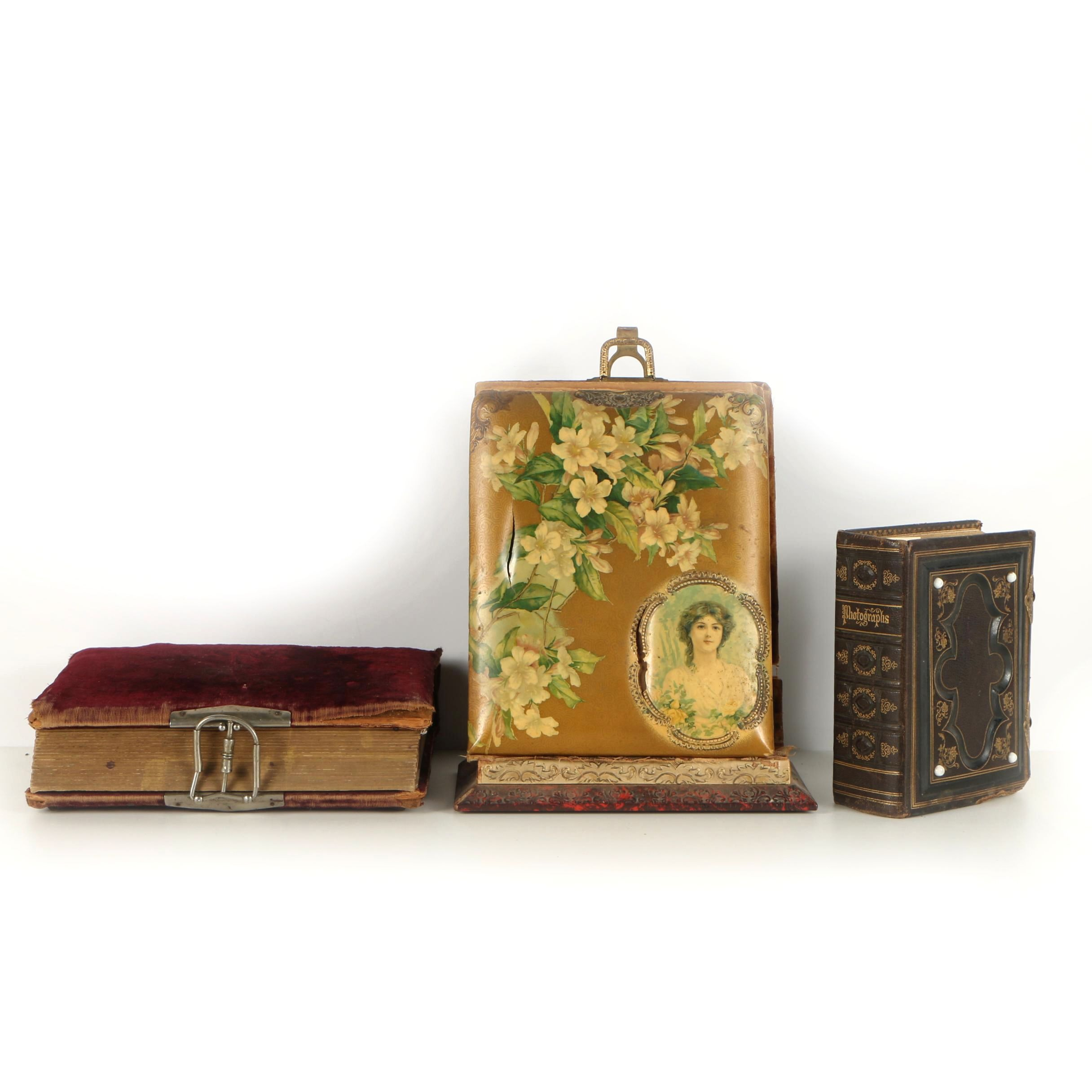 Antique Photo Albums with Tintypes, Cabinet Cards and Cartes de Visite