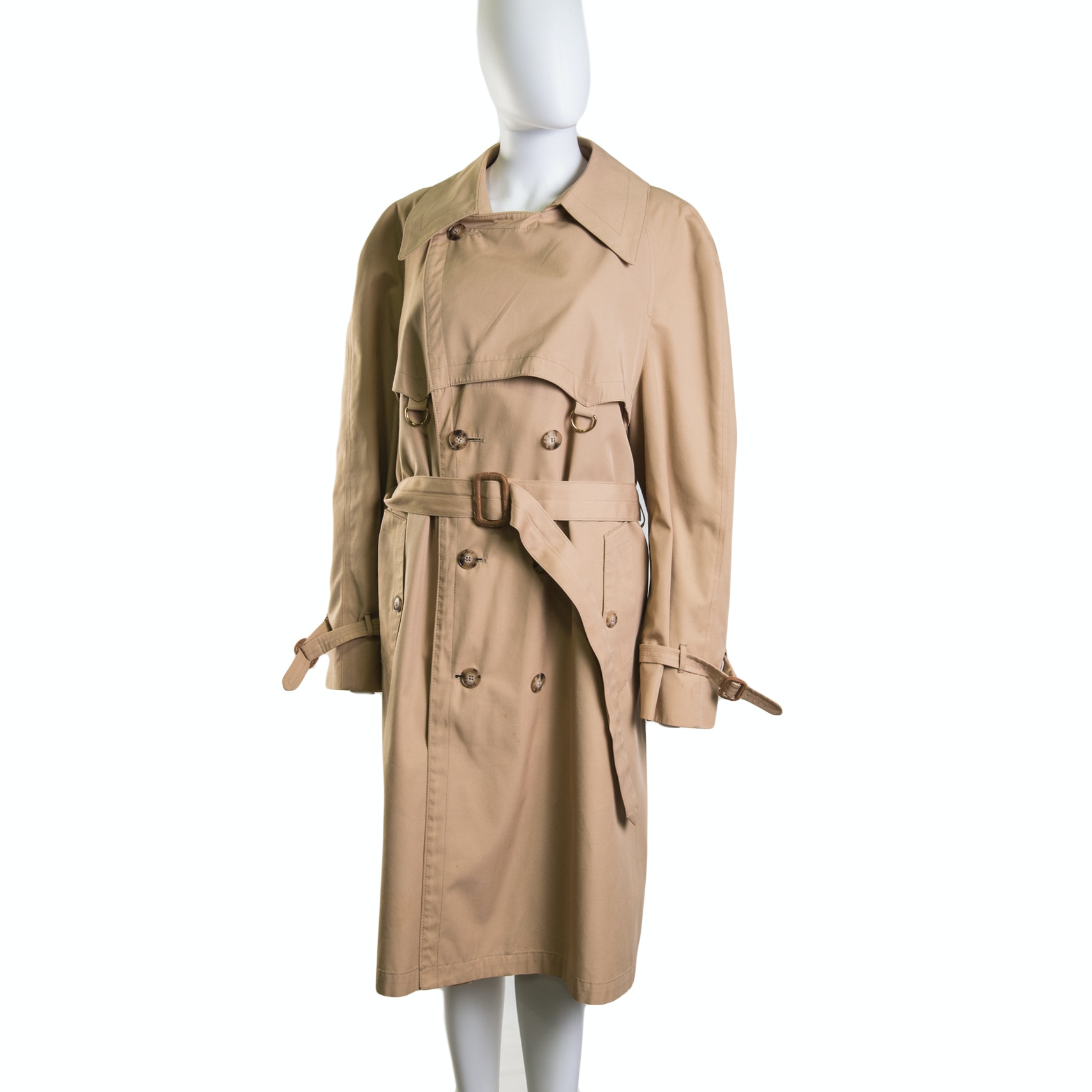 Men's Christian Dior of Paris Double-Breasted Trench Coat