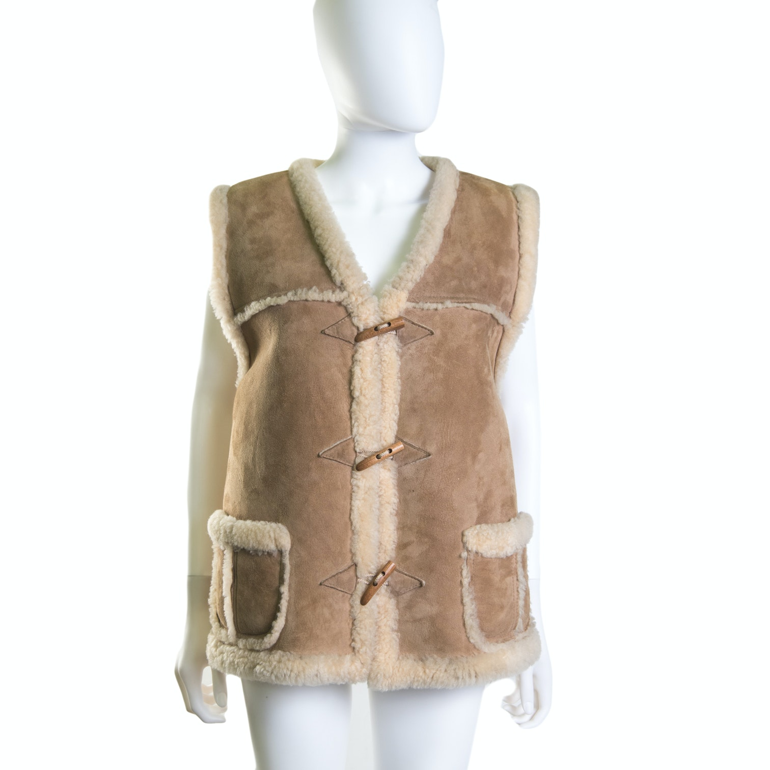 Homestead Christchurch New Zealand Suede and Shearling Vest