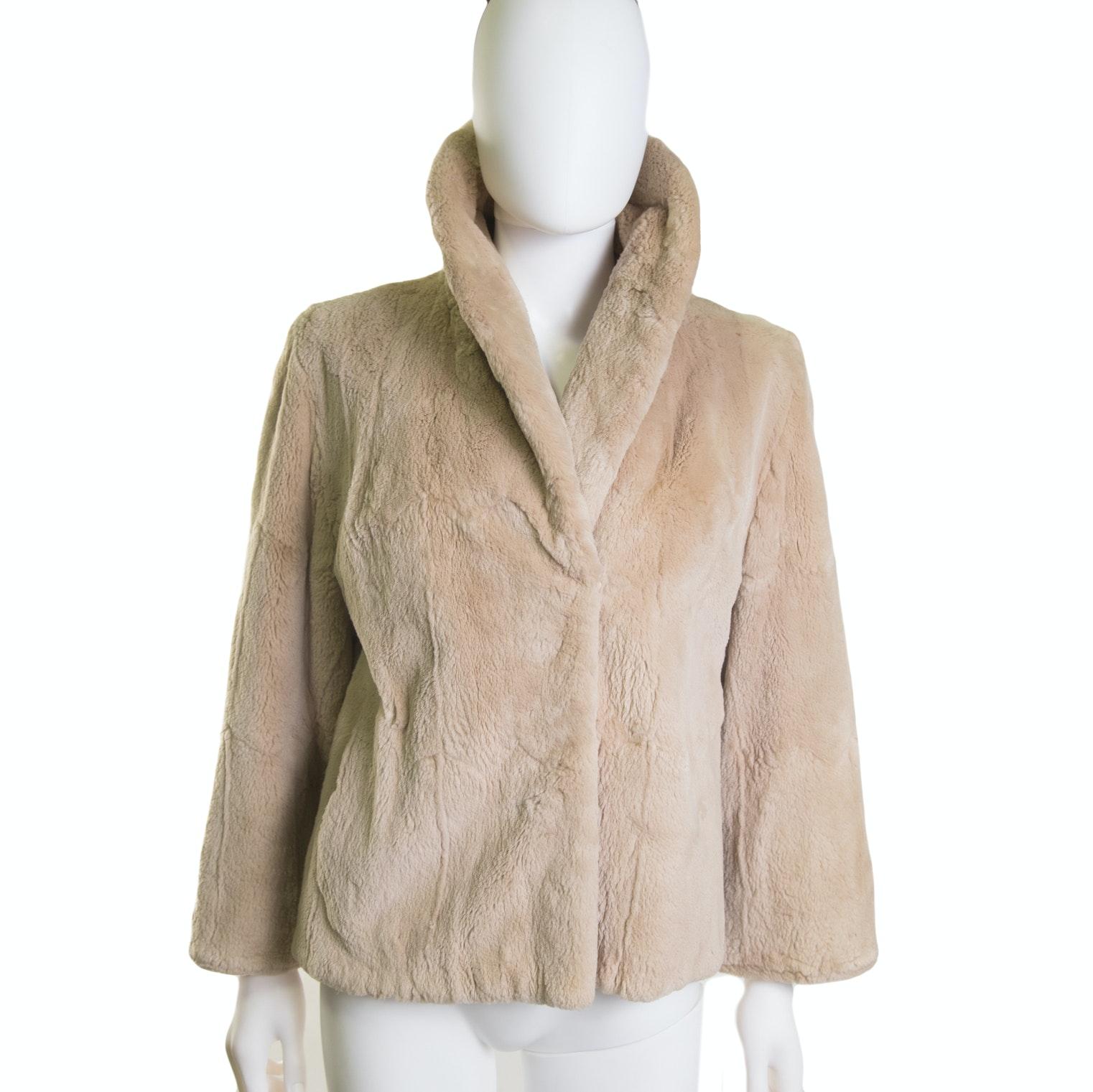 Women's Vintage Sheared Rabbit Fur Jacket