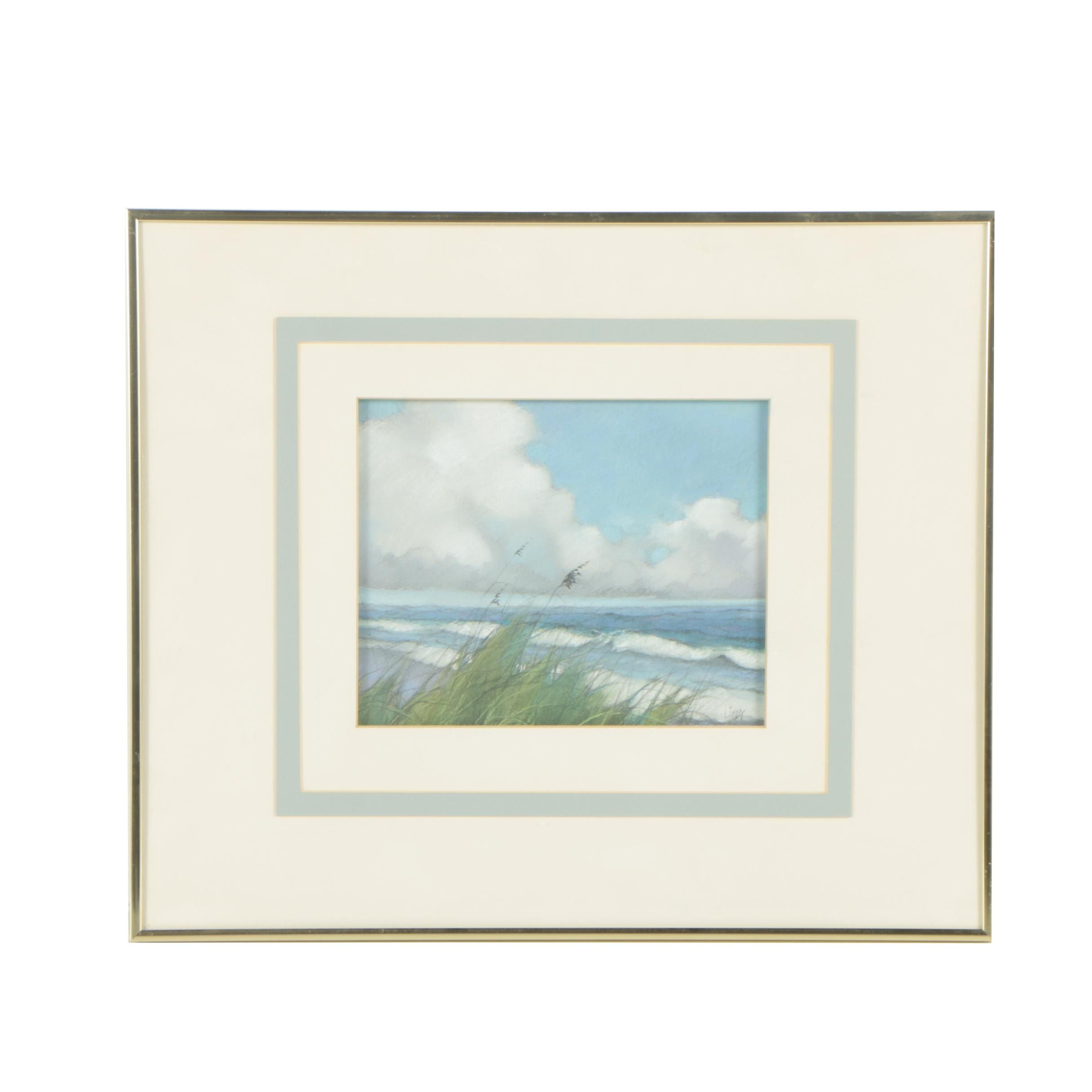 Libby Pastel Drawing of Scenic Beach