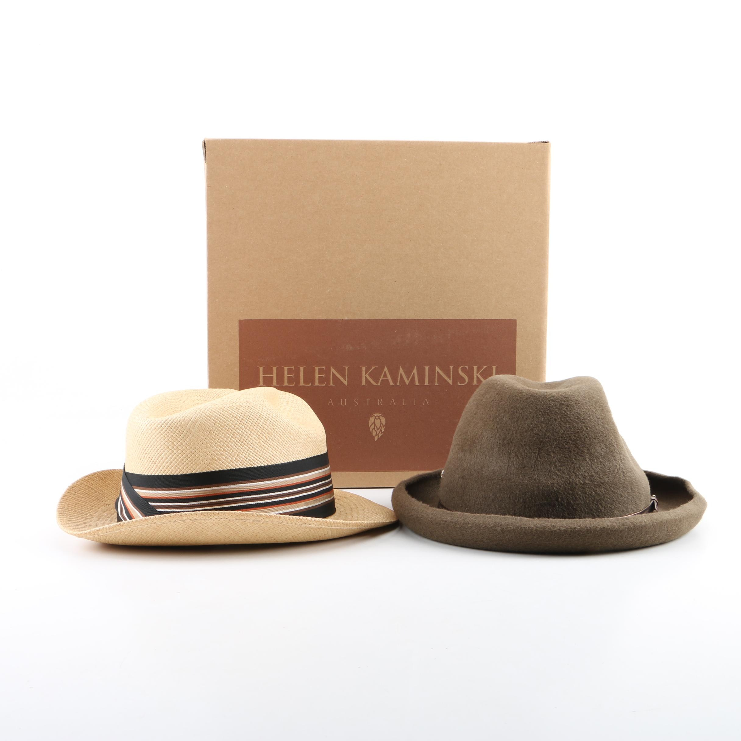 Men's Hats Featuring Helen Kaminski Felted Rabbit Fur Homburg Hat