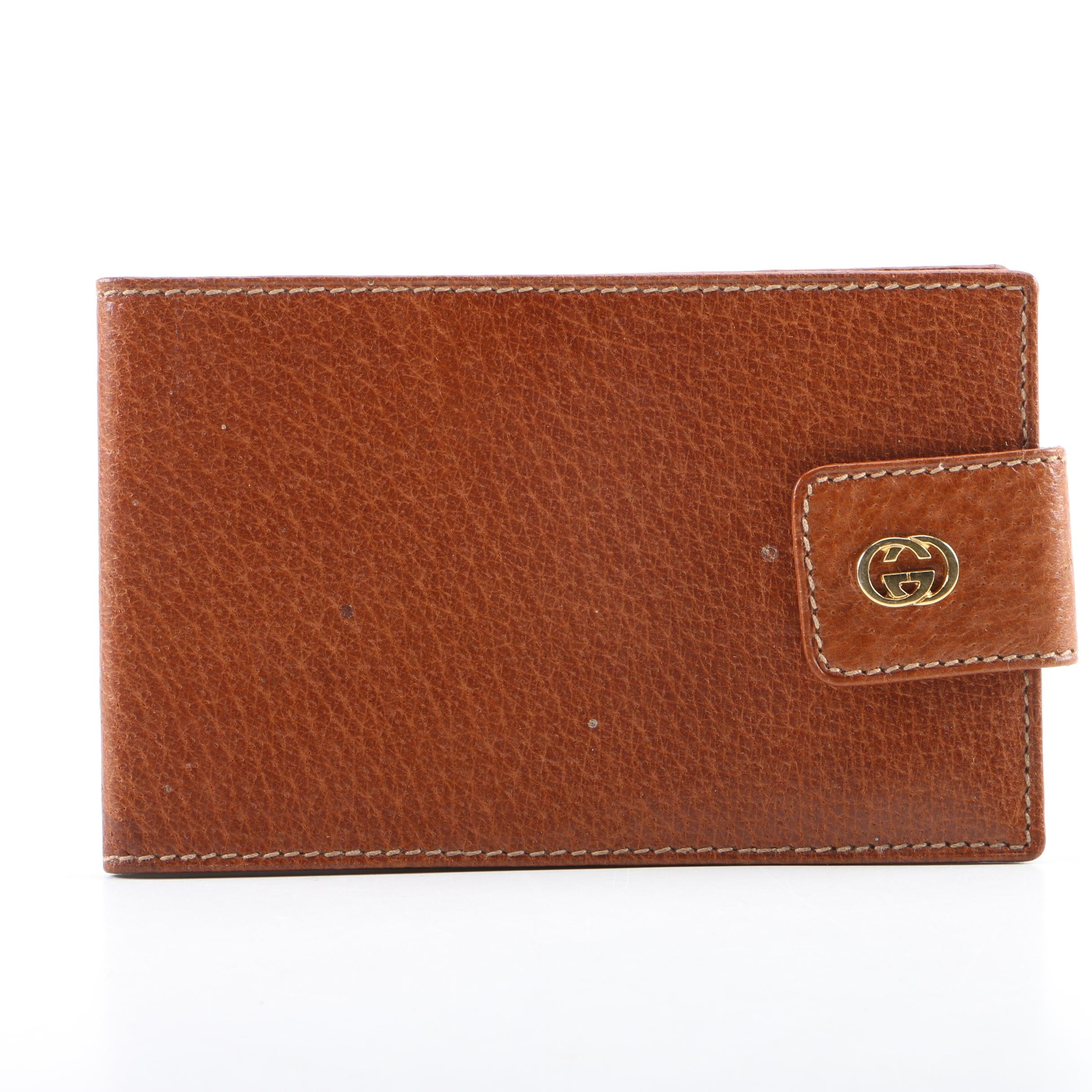 Vintage Gucci Leather Notepad Cover