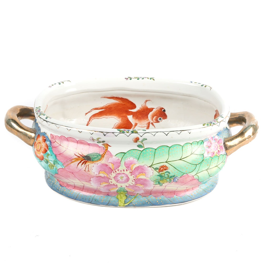 Chinese Porcelain Foot Bath
