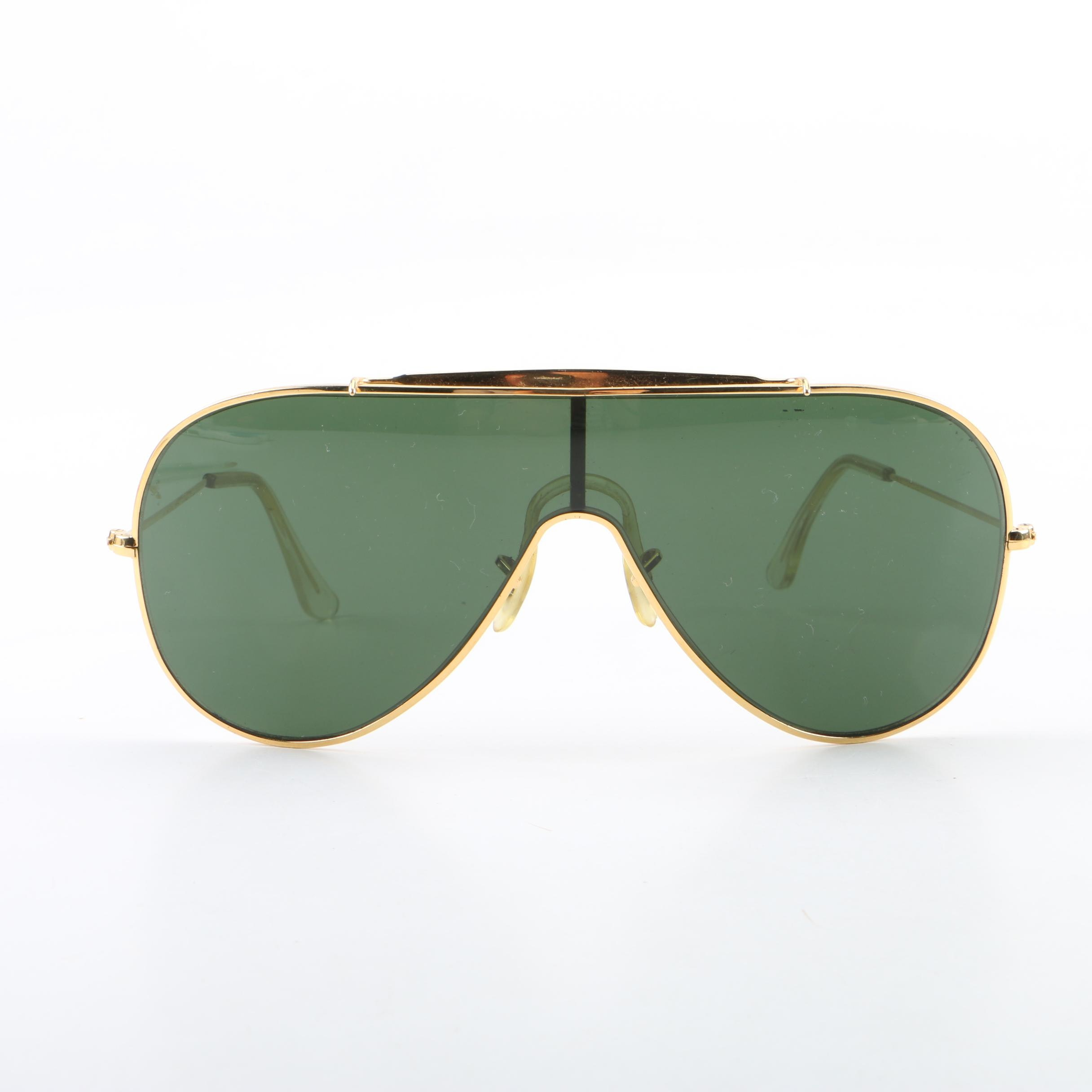 Vintage B&L Ray-Ban Wings Shield Sunglasses with Case