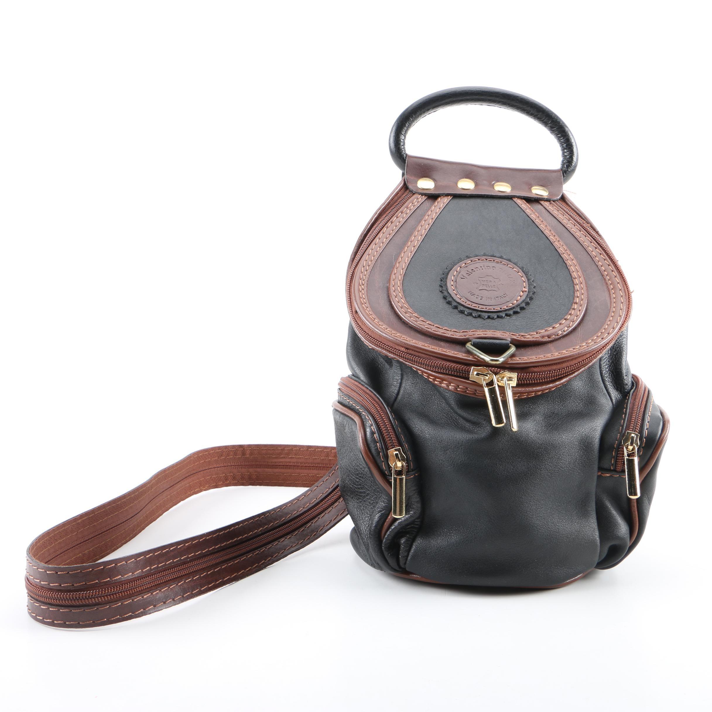 Vintage Valentino di Max Mini Leather Backpack