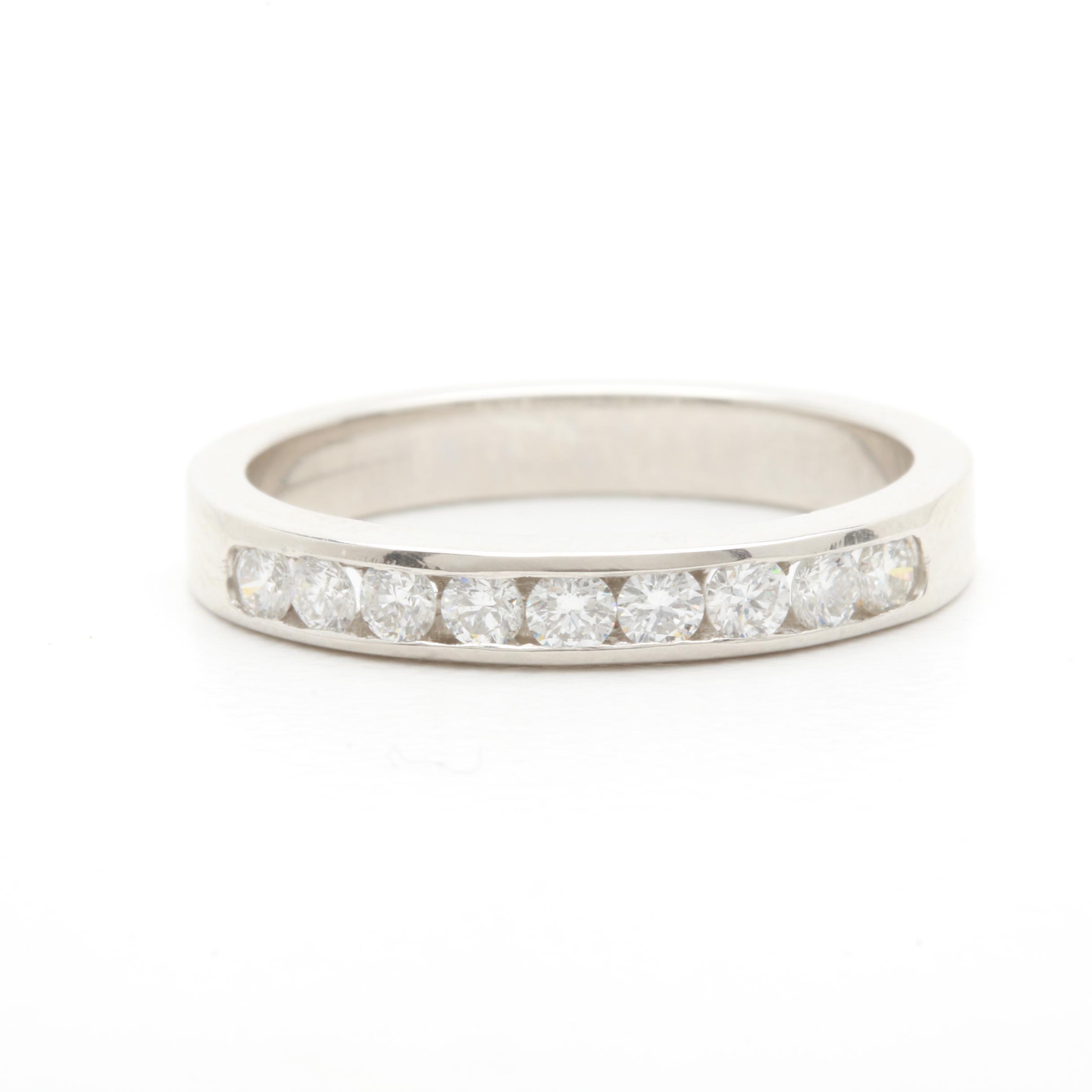 Platinum Diamond Channel Ring