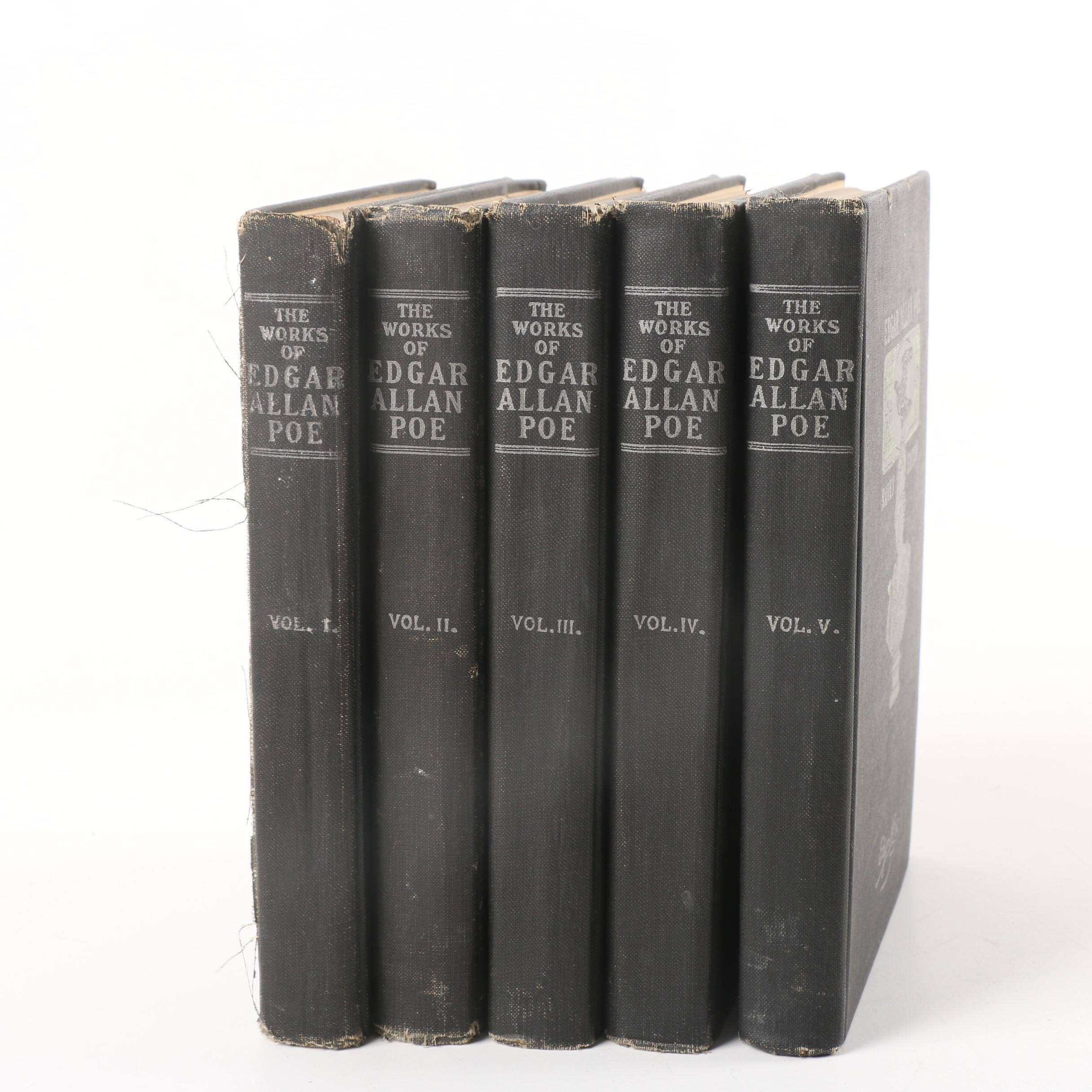 "1904 ""The Works of Edgar Allan Poe"" in Five Volumes"