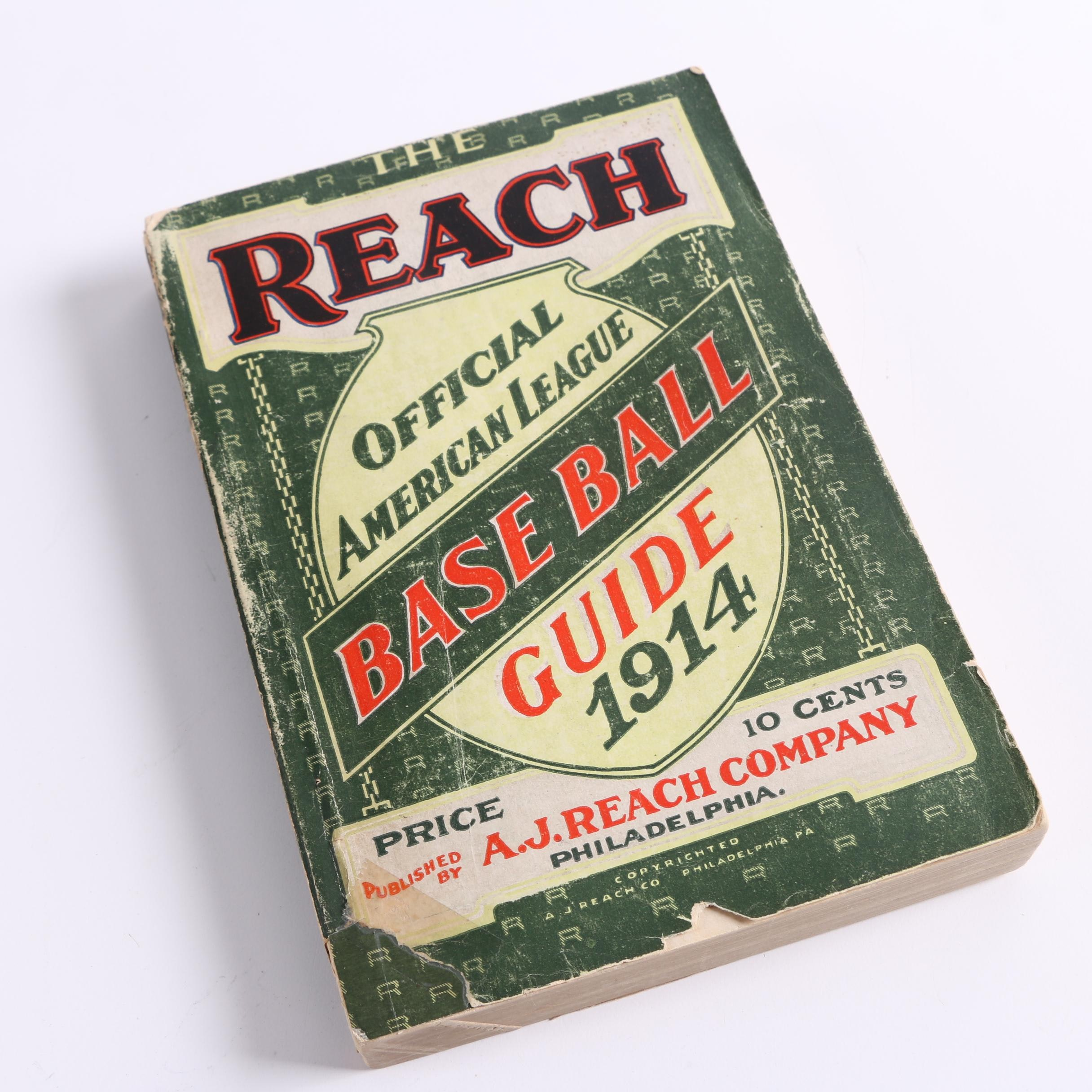 "1914 ""The Reach: Official American League Base Ball Guide"""