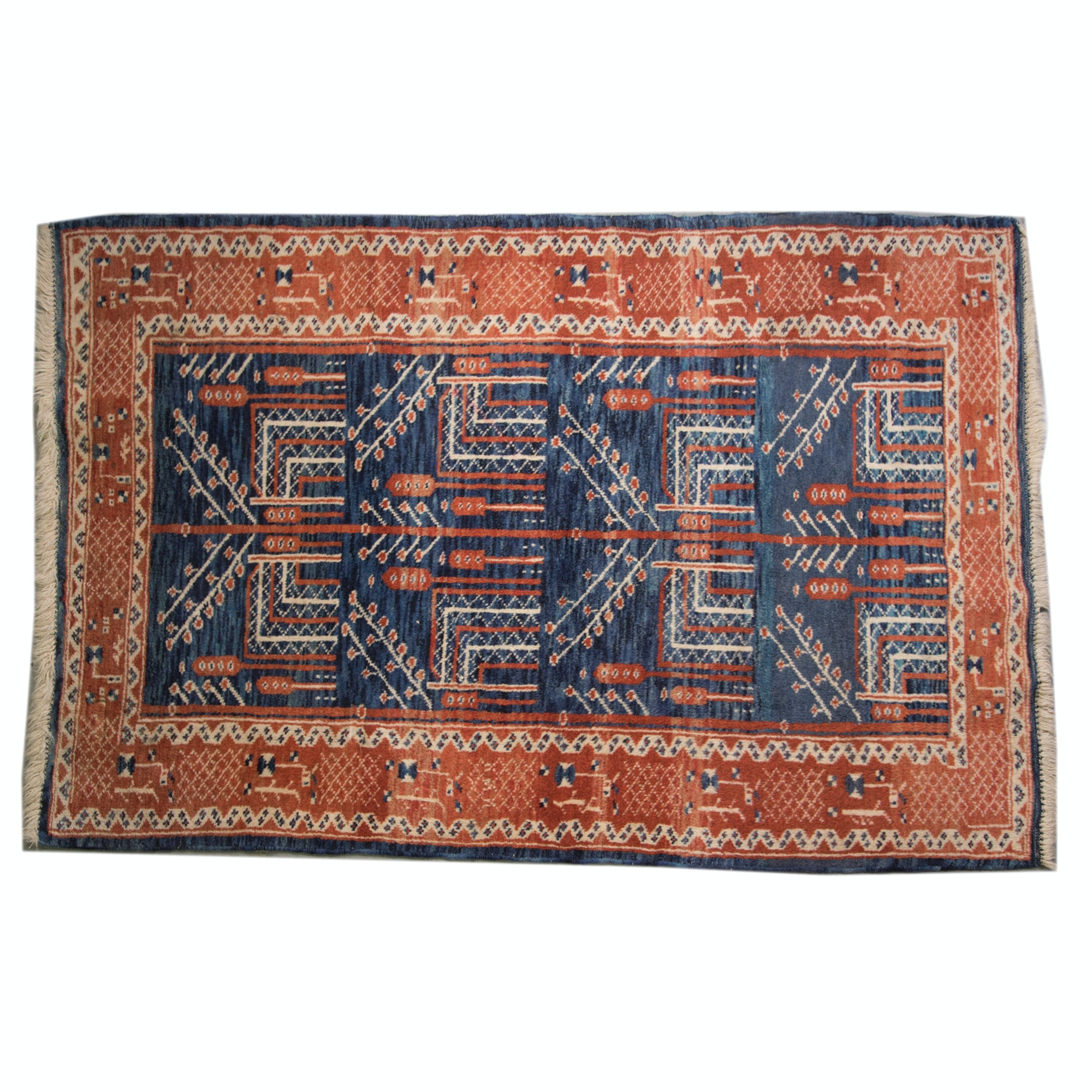 Hand-Knotted Caucasian Accent Rug