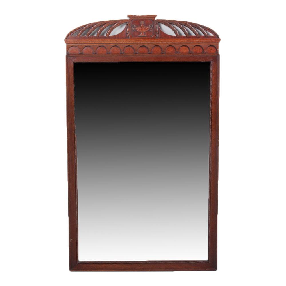 Vintage Neoclassical Mahogany Wall Mirror