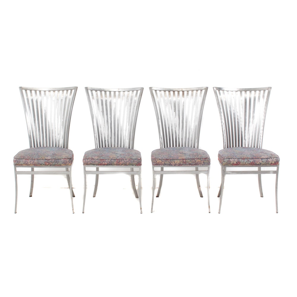 Four Contemporary Metal Chairs by Shaver-Howard