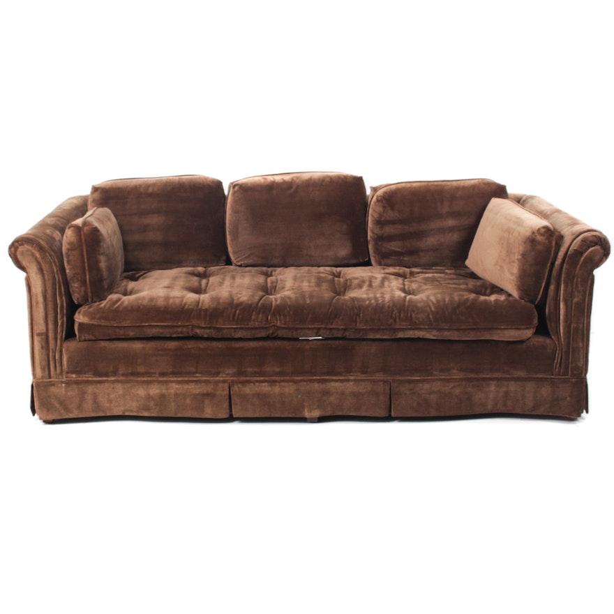 Groovy Brown Velour Sofa By Harden Furniture Short Links Chair Design For Home Short Linksinfo