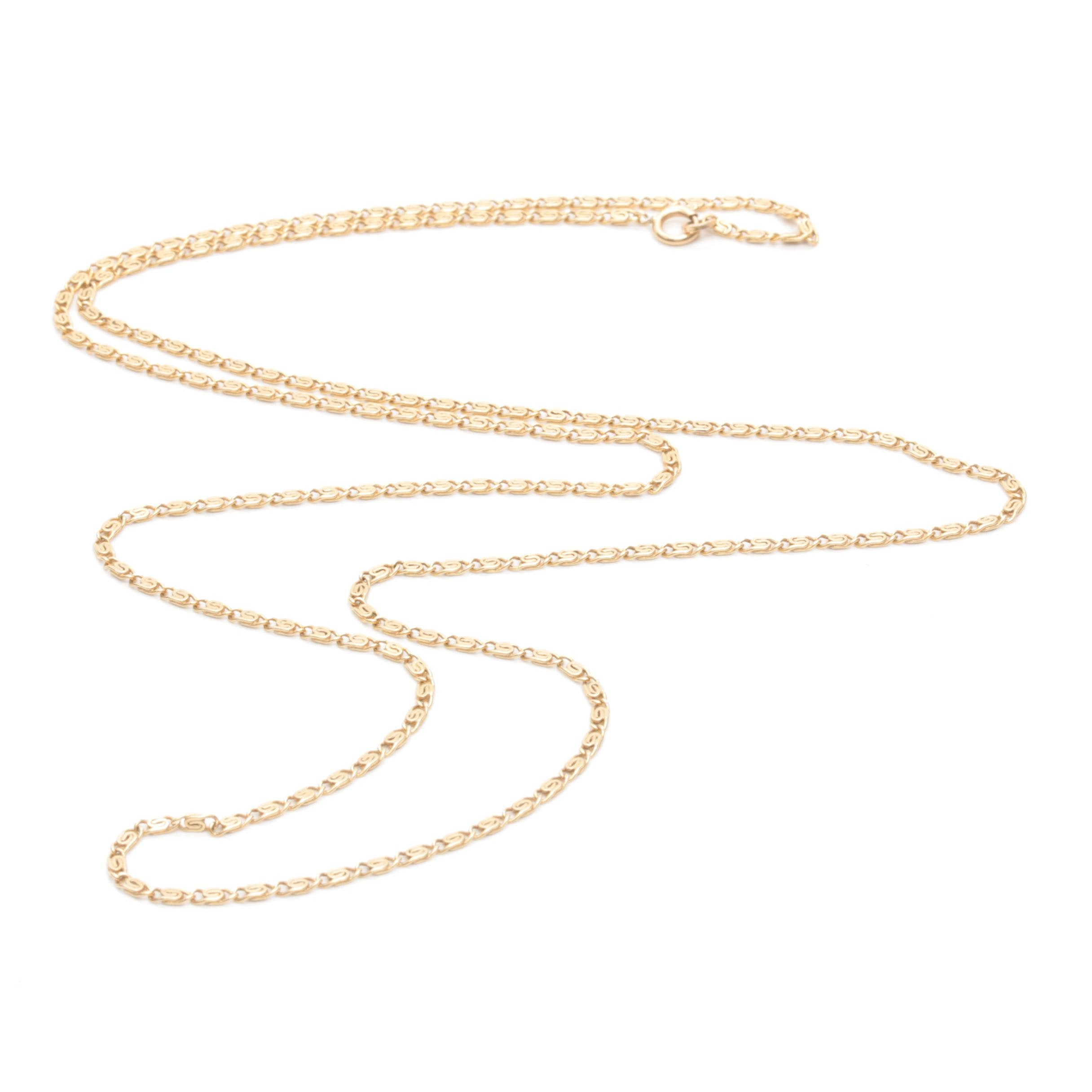 14K Yellow Gold Fancy Chain Necklace