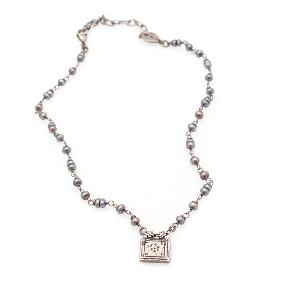 Alana Leigh Sterling Silver and Pearl Necklace