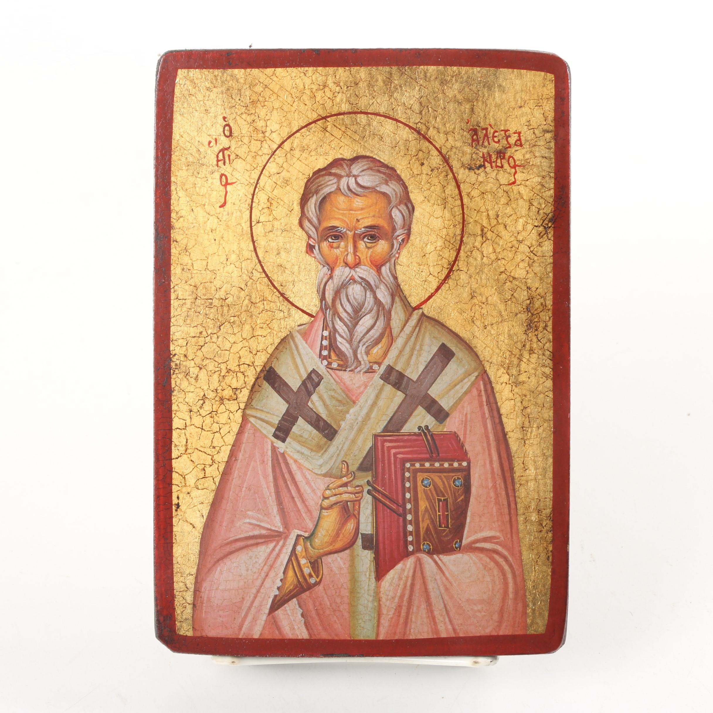Eastern Orthodox Icon of Alexander of Constantinople
