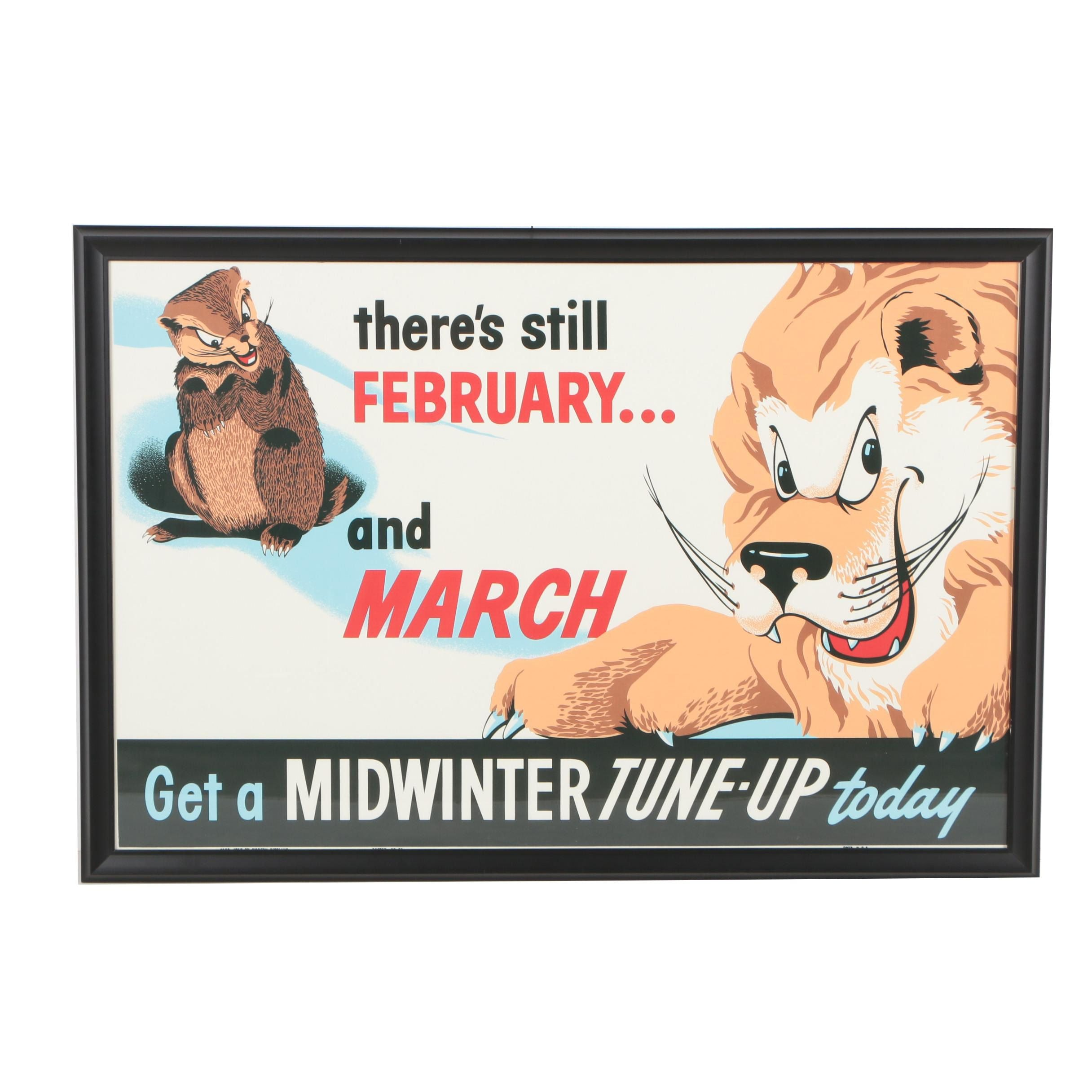 """Giclée Advertisement Poster """"Get A Midwinter Tune-Up Today"""""""