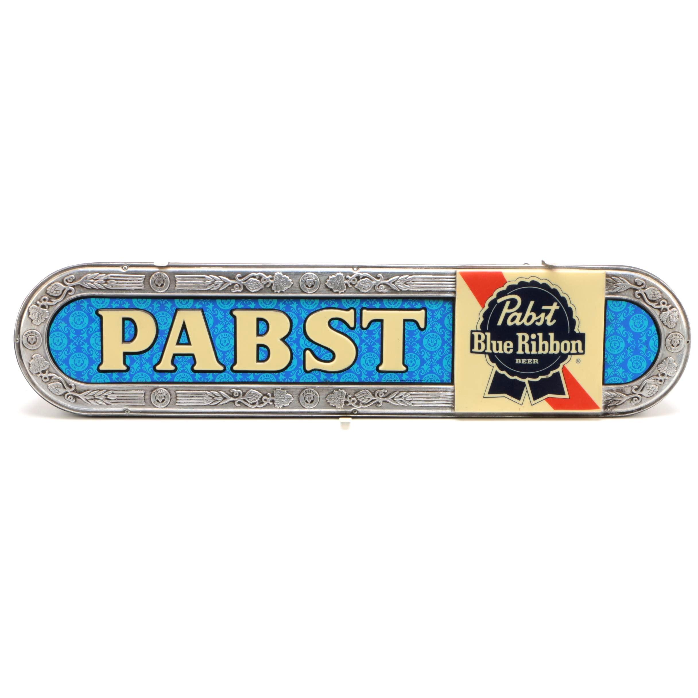 Vintage Light Up Pabst Blue Ribbon Bar Sign