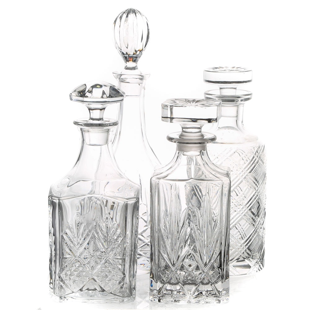 Collection of Crystal Decanters