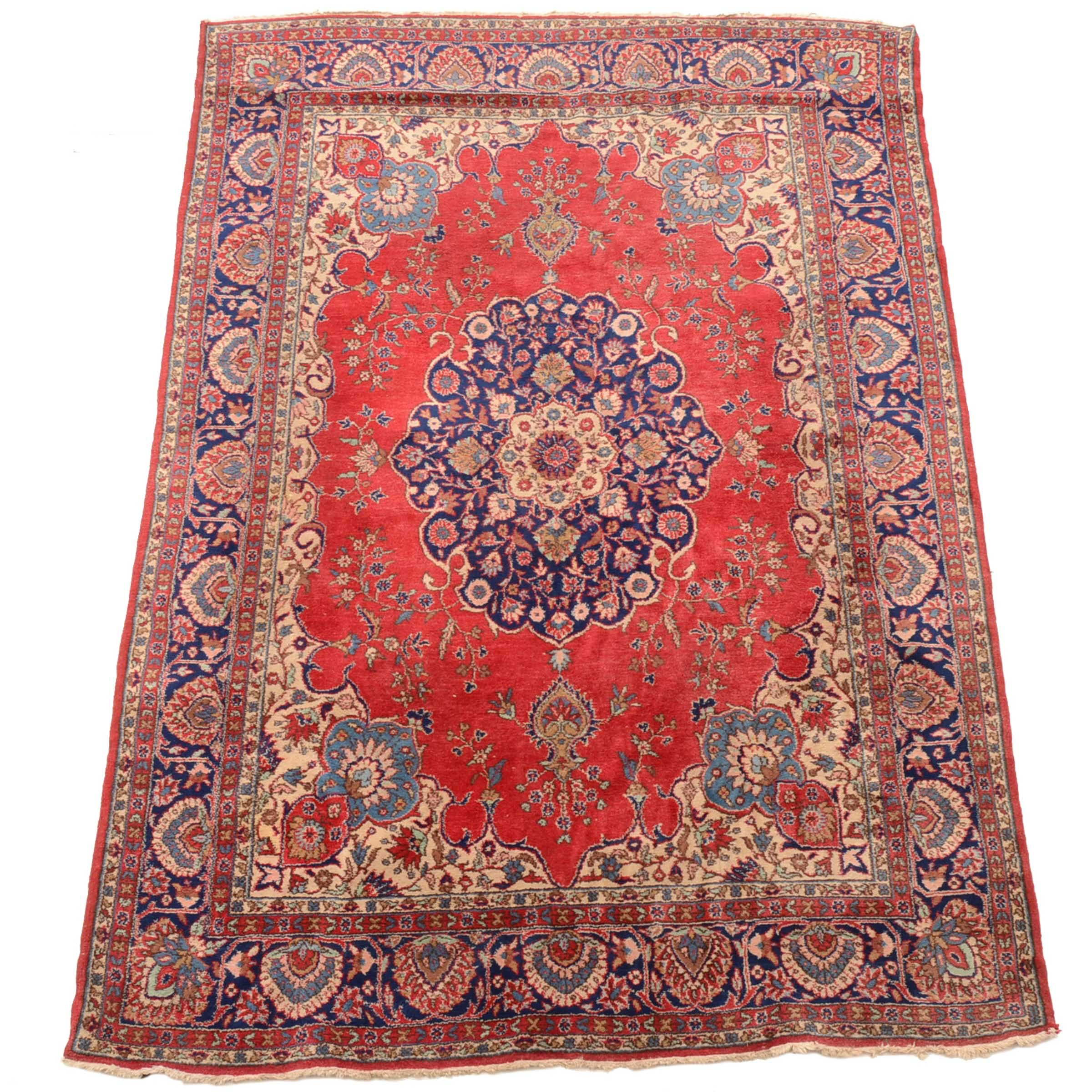 Hand-Knotted Persian Persian Chahal Shotur Wool Area Rug