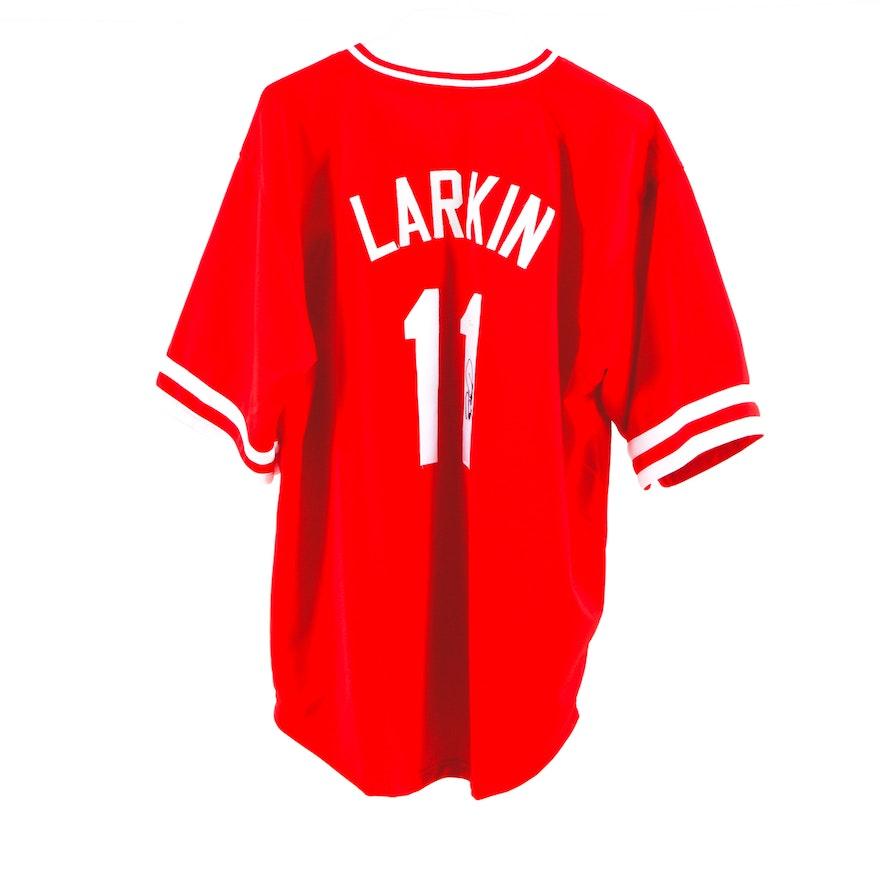 619a94ee40d Barry Larkin Signed Jersey COA   EBTH