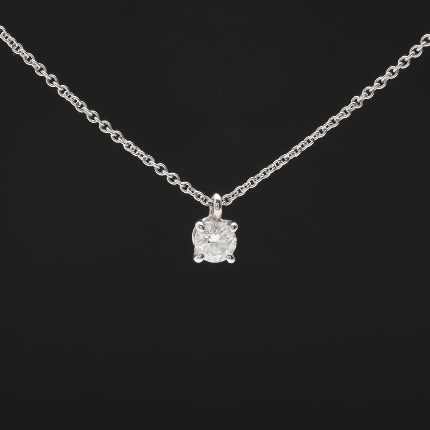 99f9722b05f11 Tiffany & Co. Platinum Diamond Necklace with Tiffany & Co Diamond  Certificate