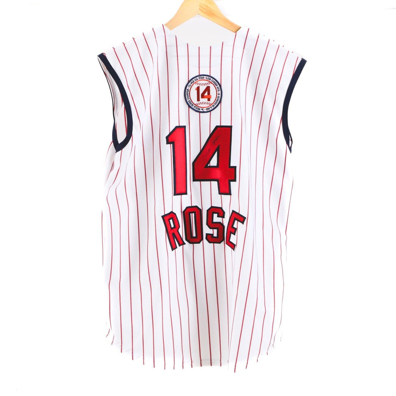 Pete Rose Signed Reds Hall Of Fame Baseball Jersey