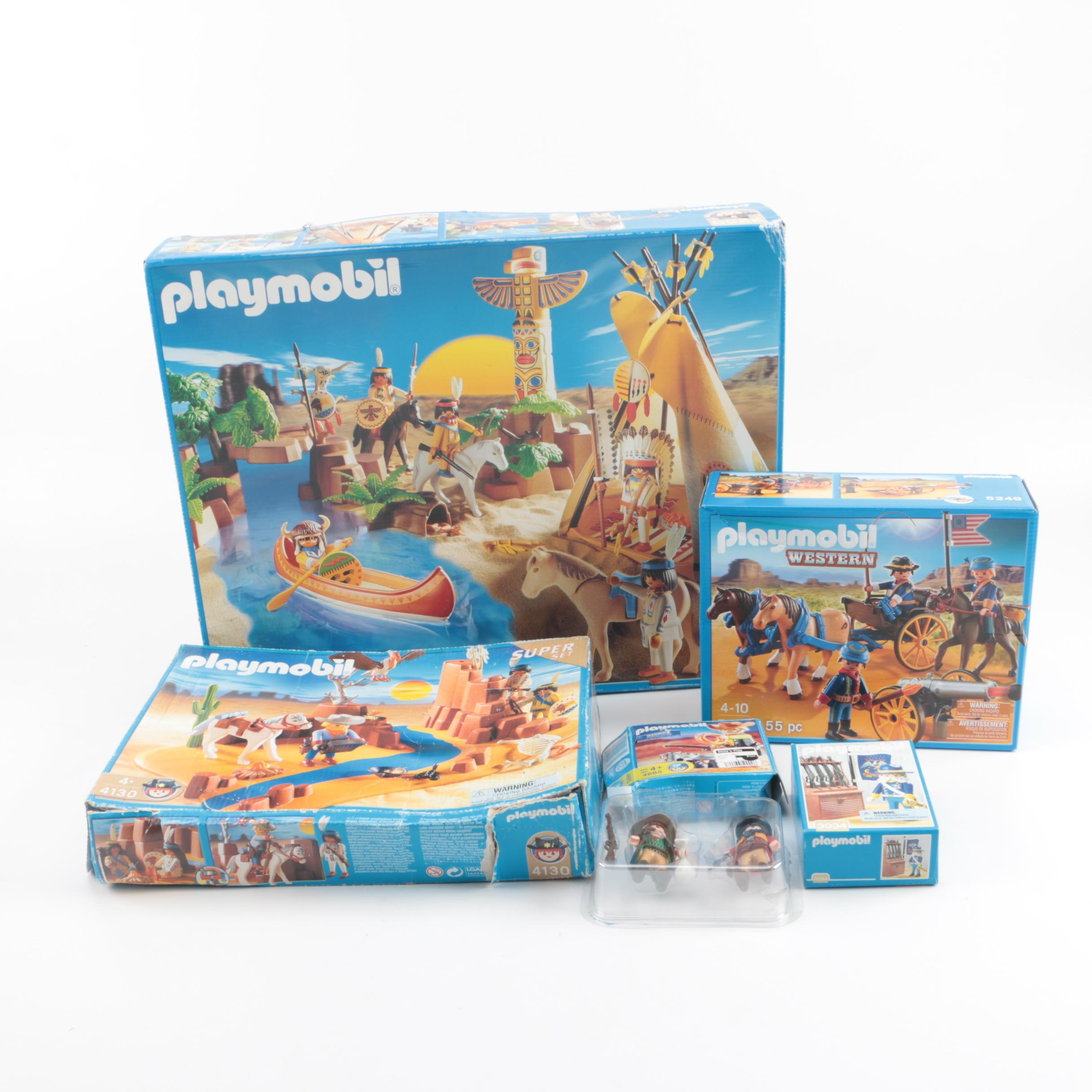 "Playmobil Western Themed Sets Including ""Western Super Set"""