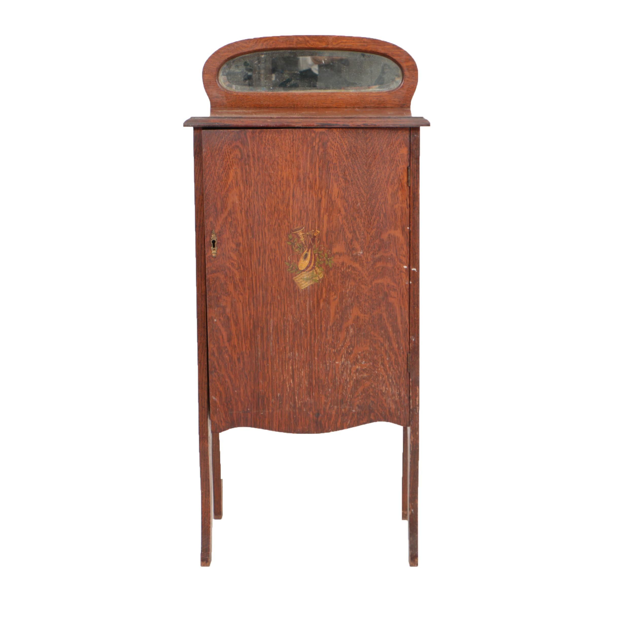Early 20th Century Oak Sheet Music Cabinet