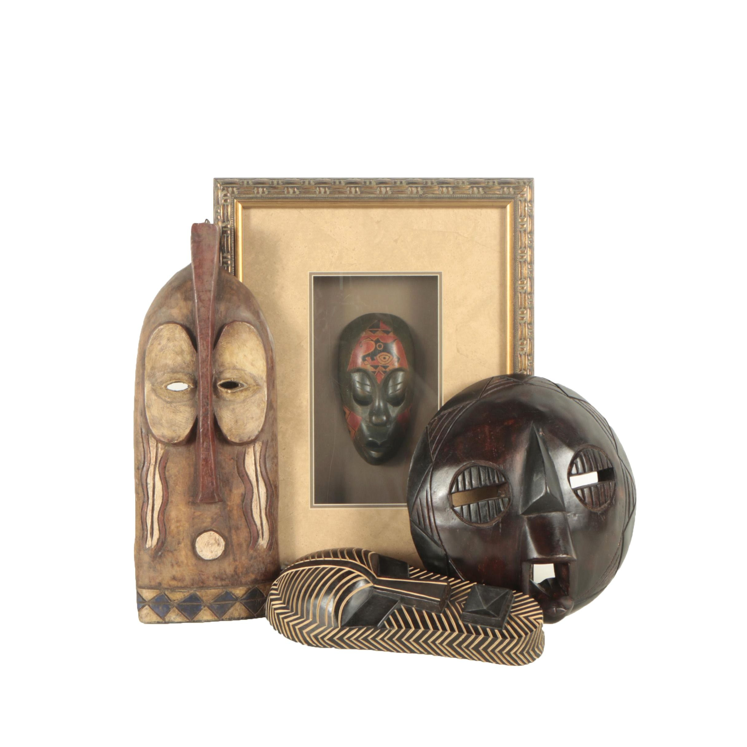 Pier 1 Imports Ghana Collection Carved Wooden Masks