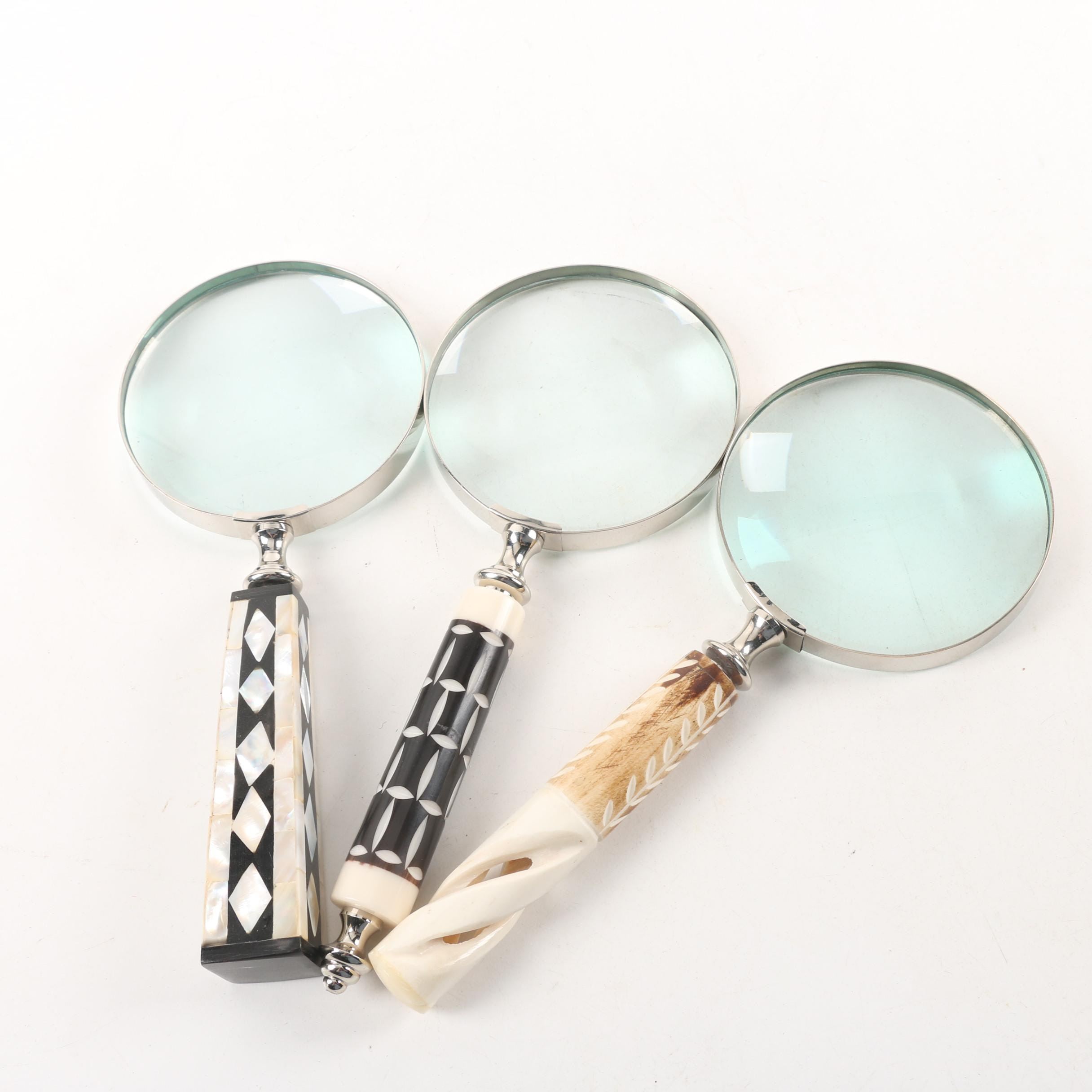 Magnifying Glasses with Horn and Mother of Pearl Inlay