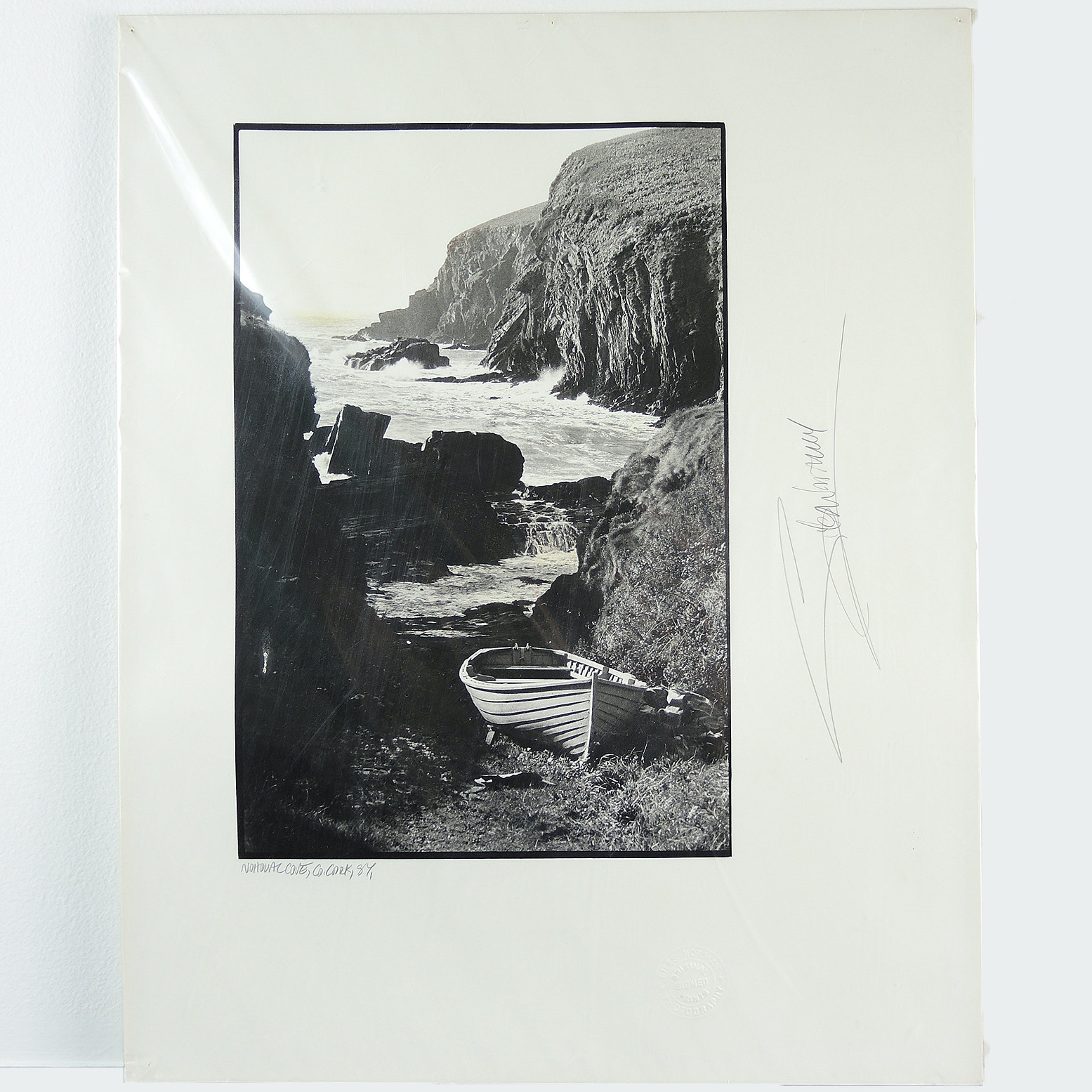 "Giles Norman Signed Black and White Photograph ""Nohoval Cove"" Kinsale, Ireland"
