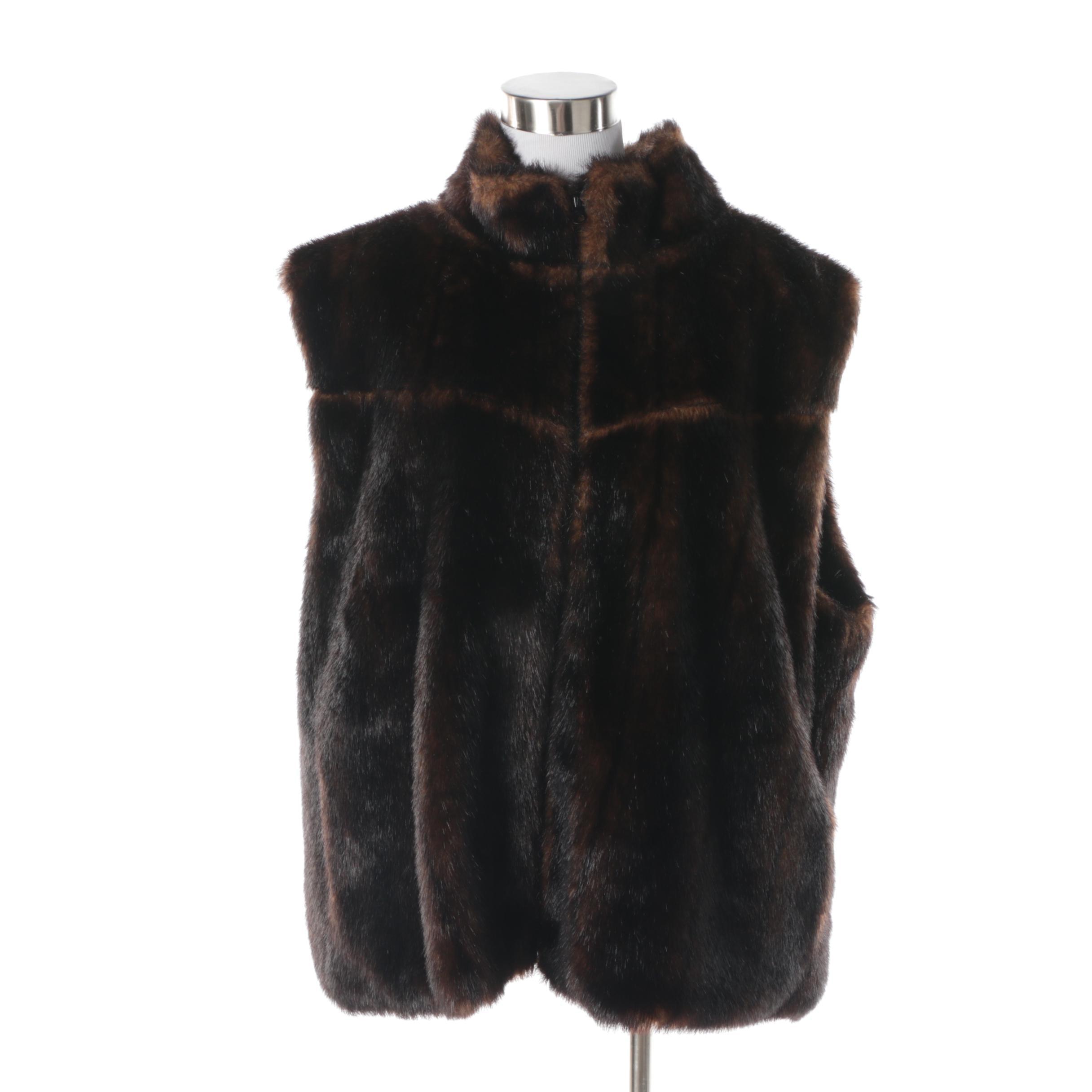 Women's Alpine Studio Reversible Faux Fur Vest