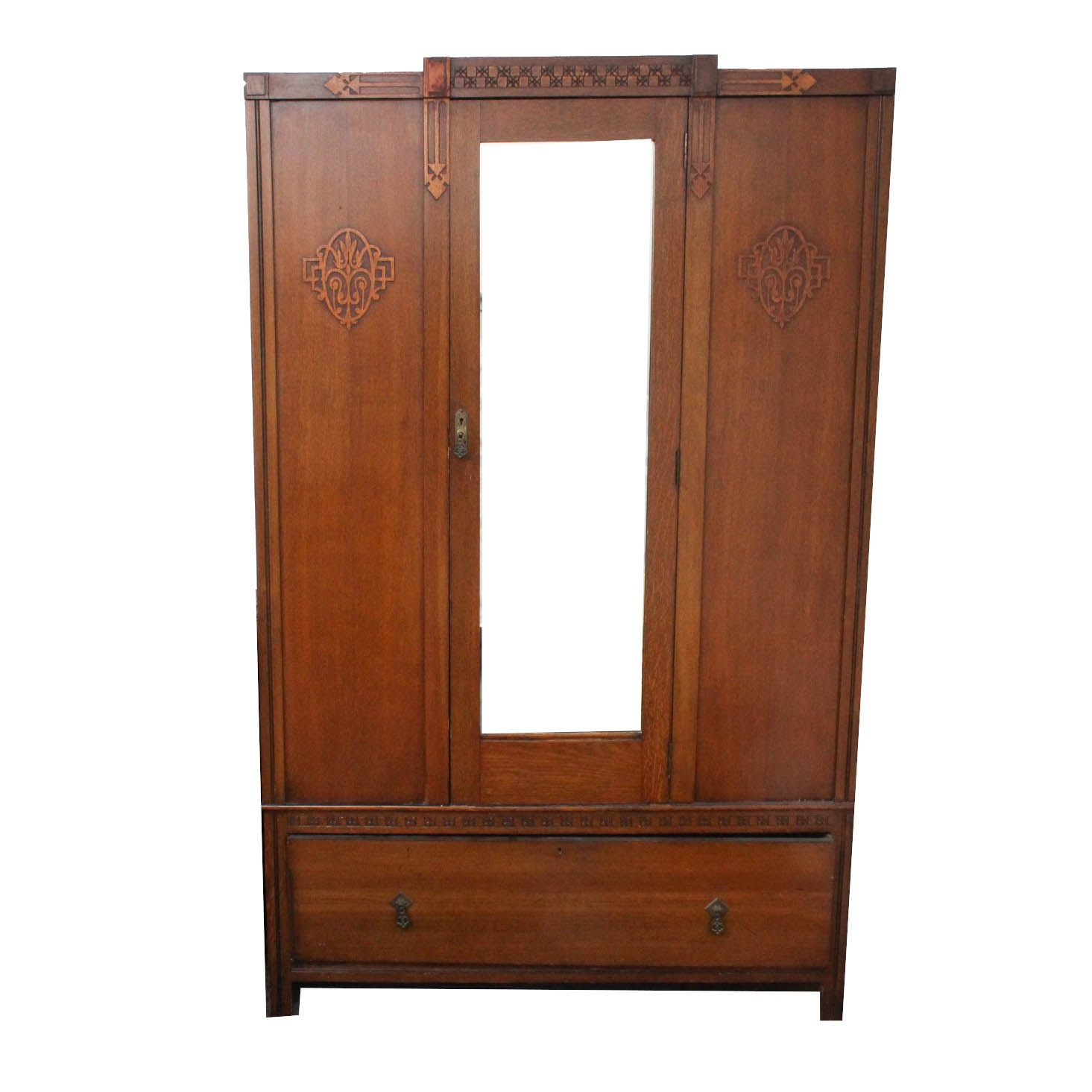 Late Edwardian English Oak Armoire