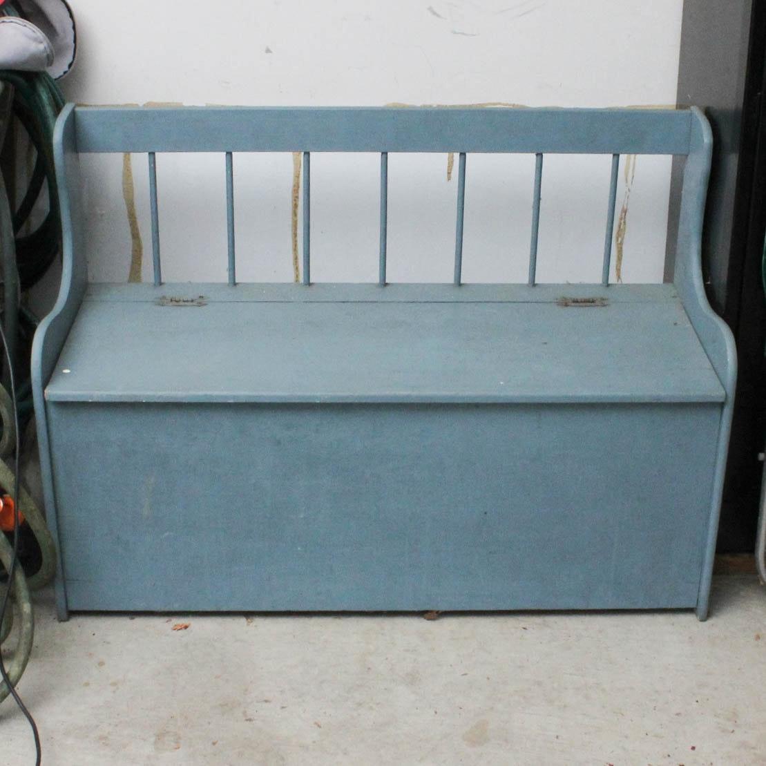 Vintage Wooden Storage Bench