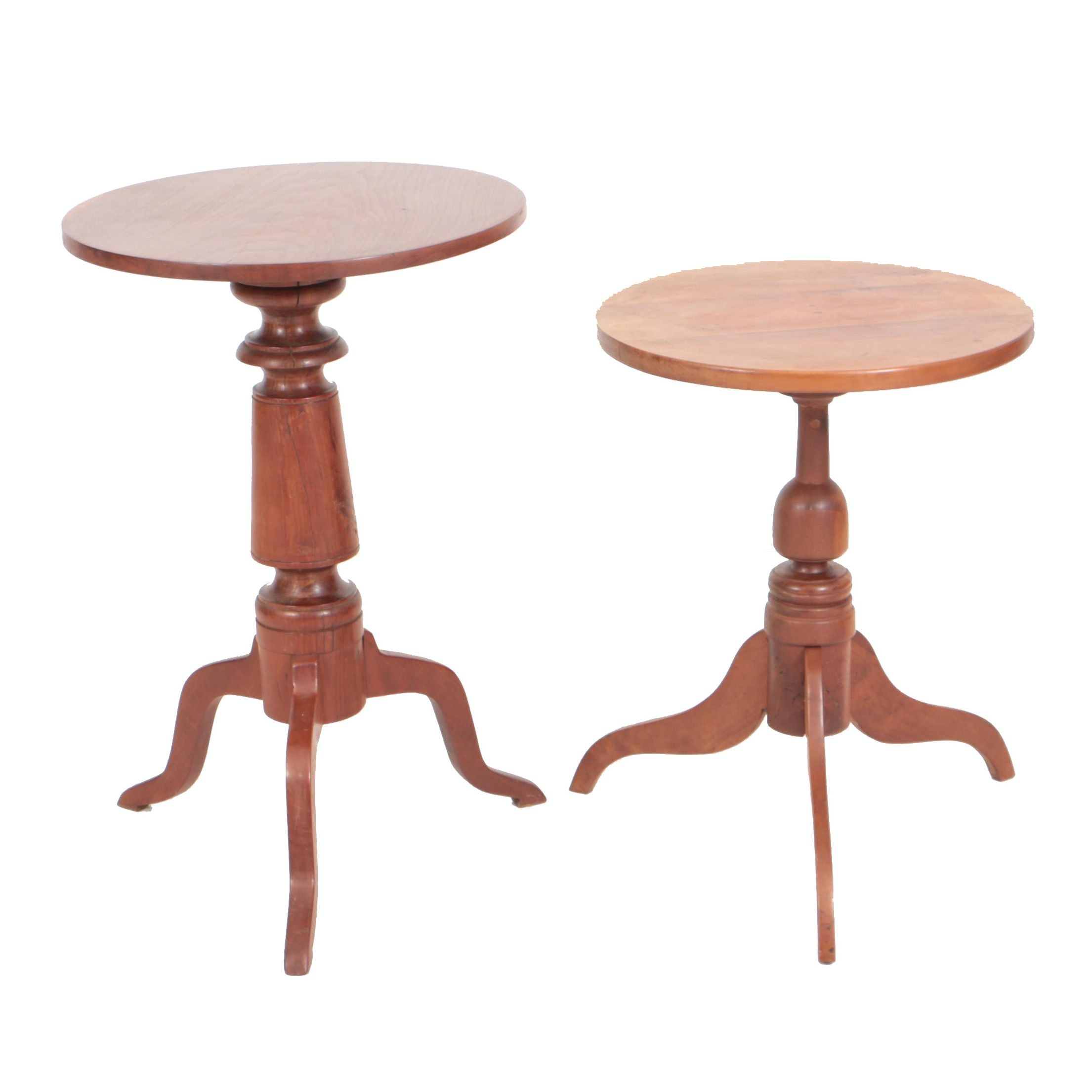 Antique Federal Cherry Candlestands