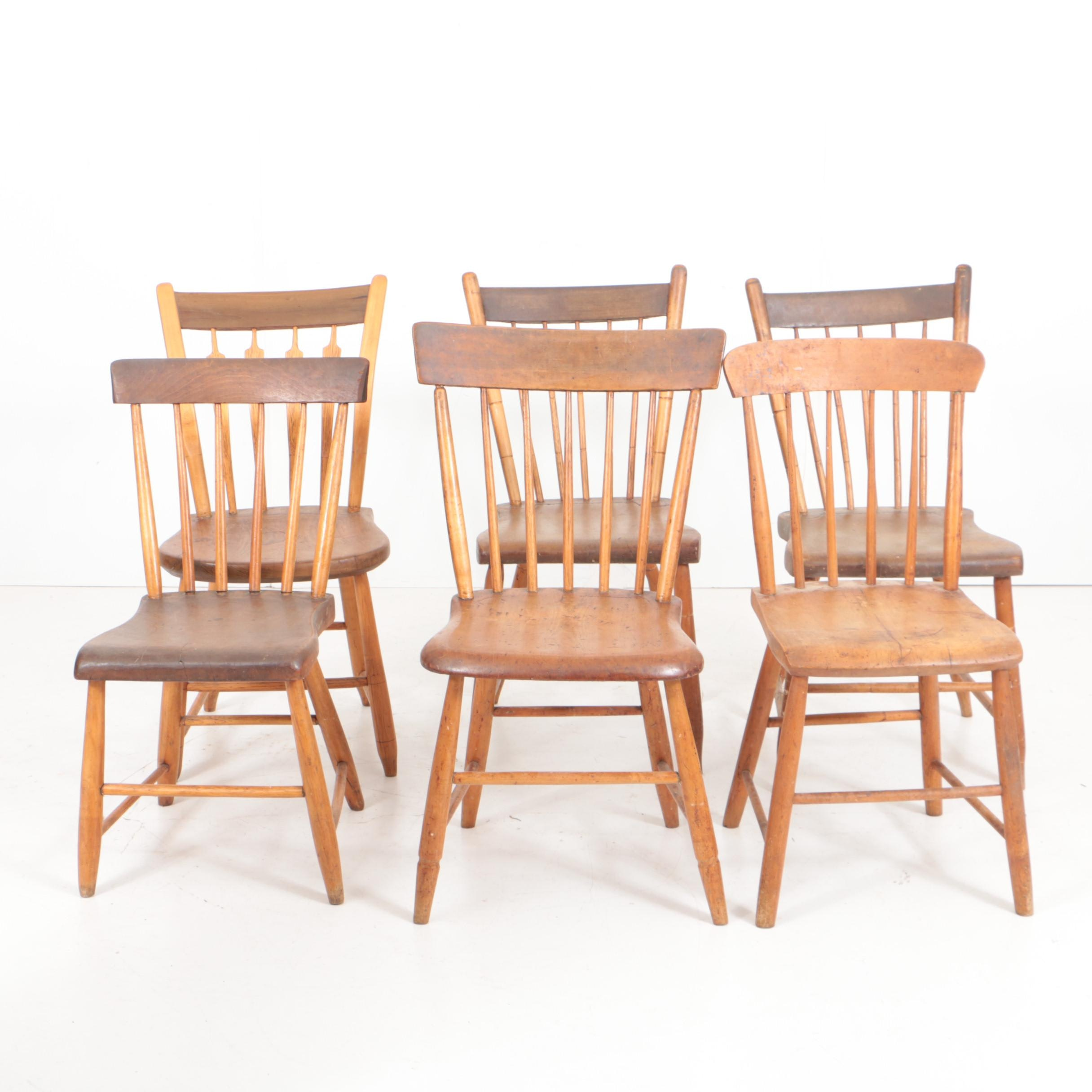Antique Spindle-Back Side Chairs