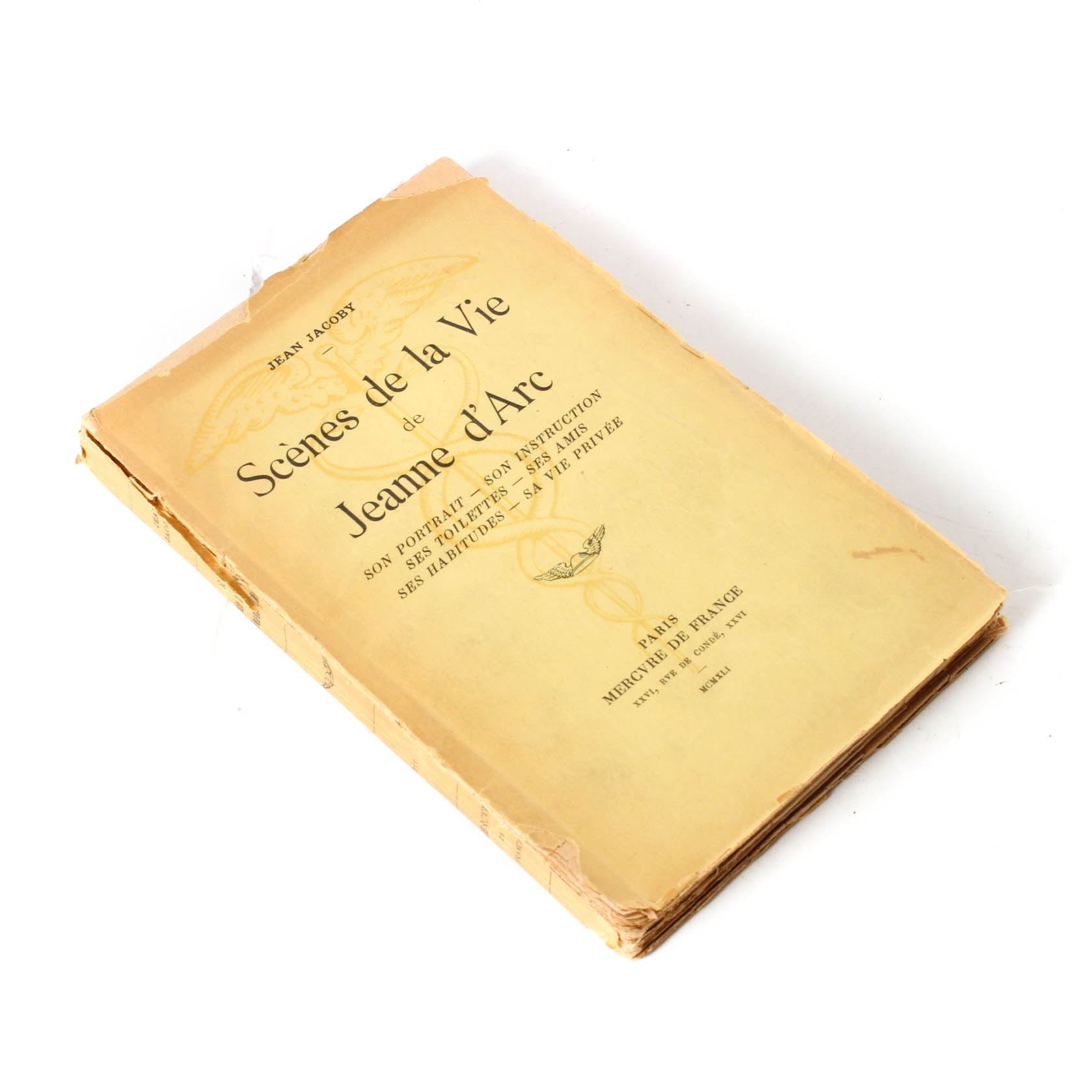 "First Edition ""Scѐnes de la Vie de Jeanne d'Arc"" by Jean Jacoby"