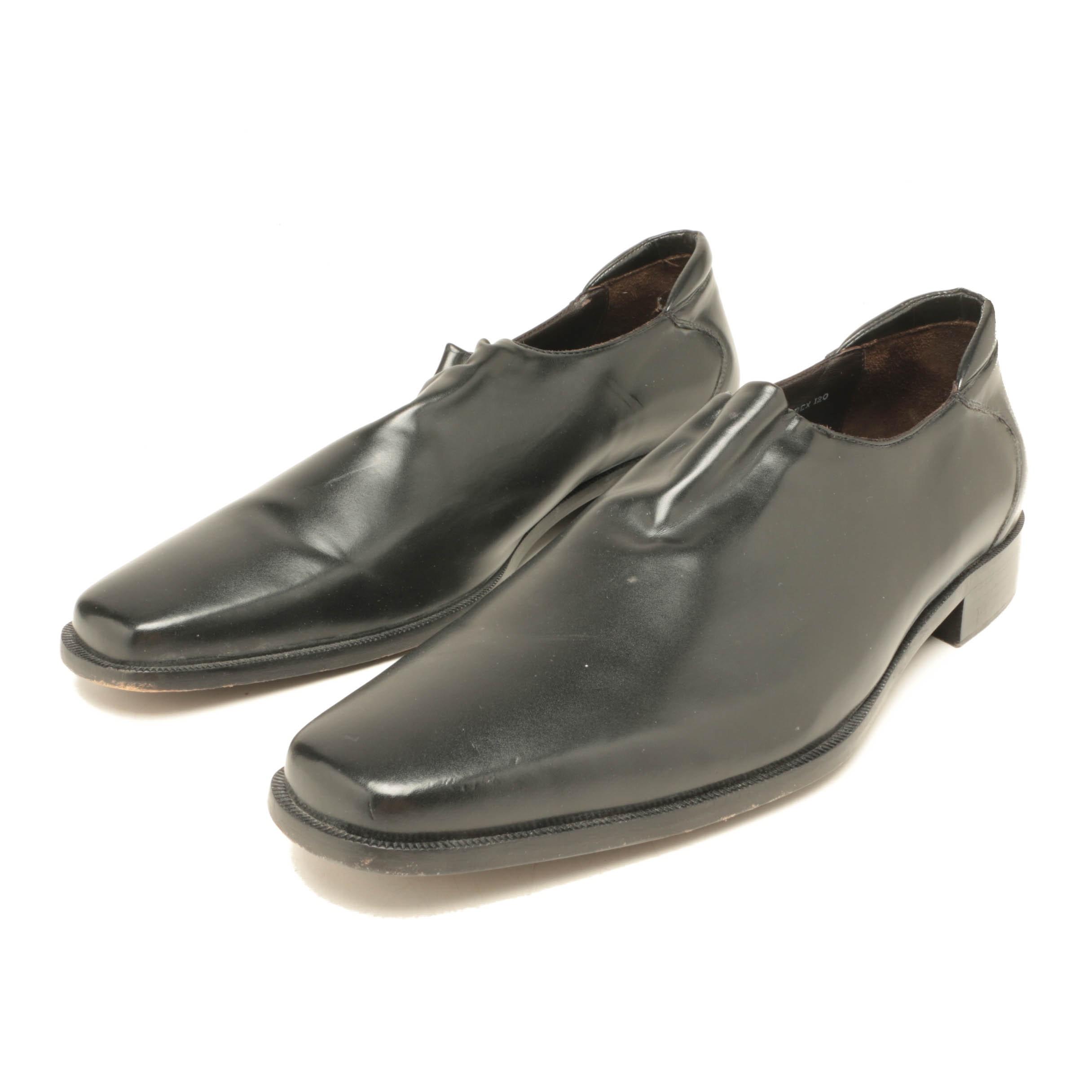 Donald J. Pliner Black Leather Loafers