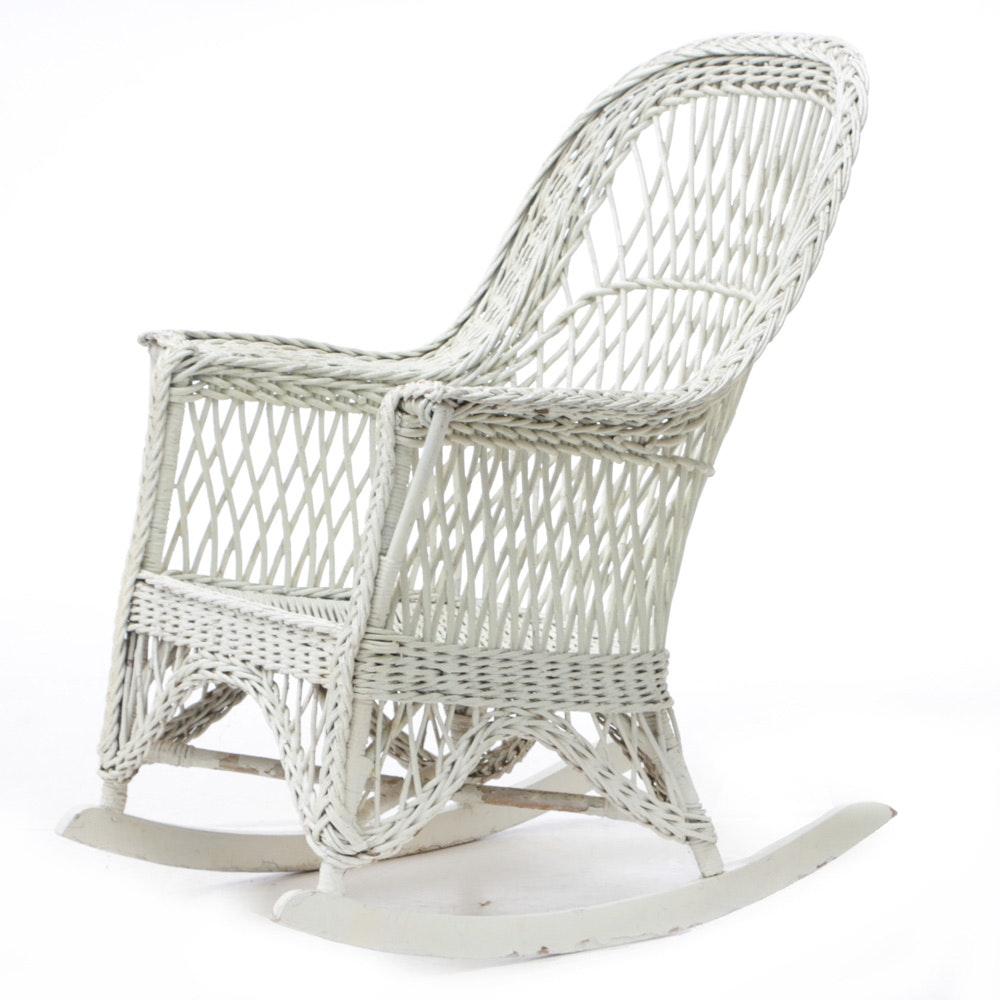 Genial Vintage Wicker Rocking Chair ...