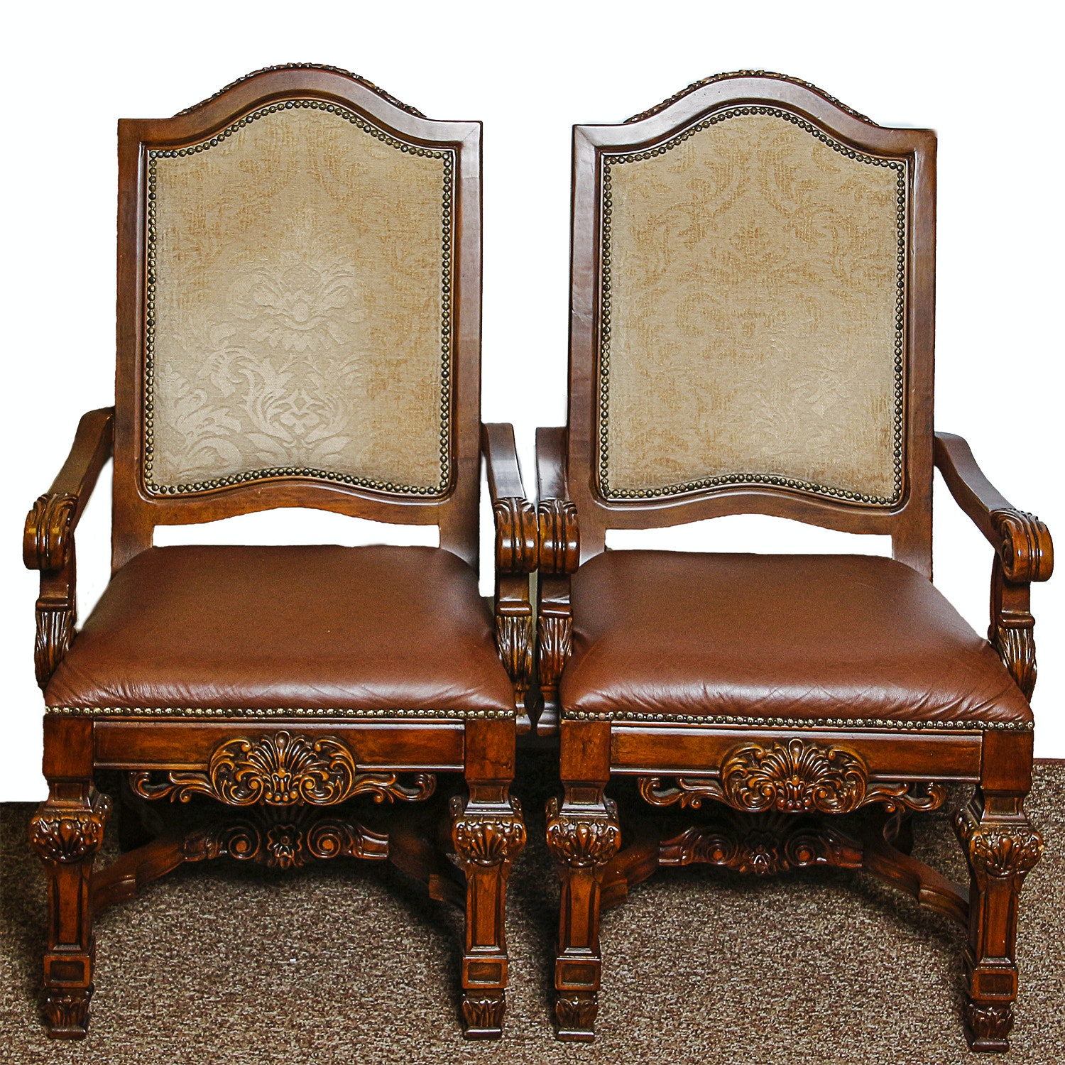 French Provincial Style Armchairs