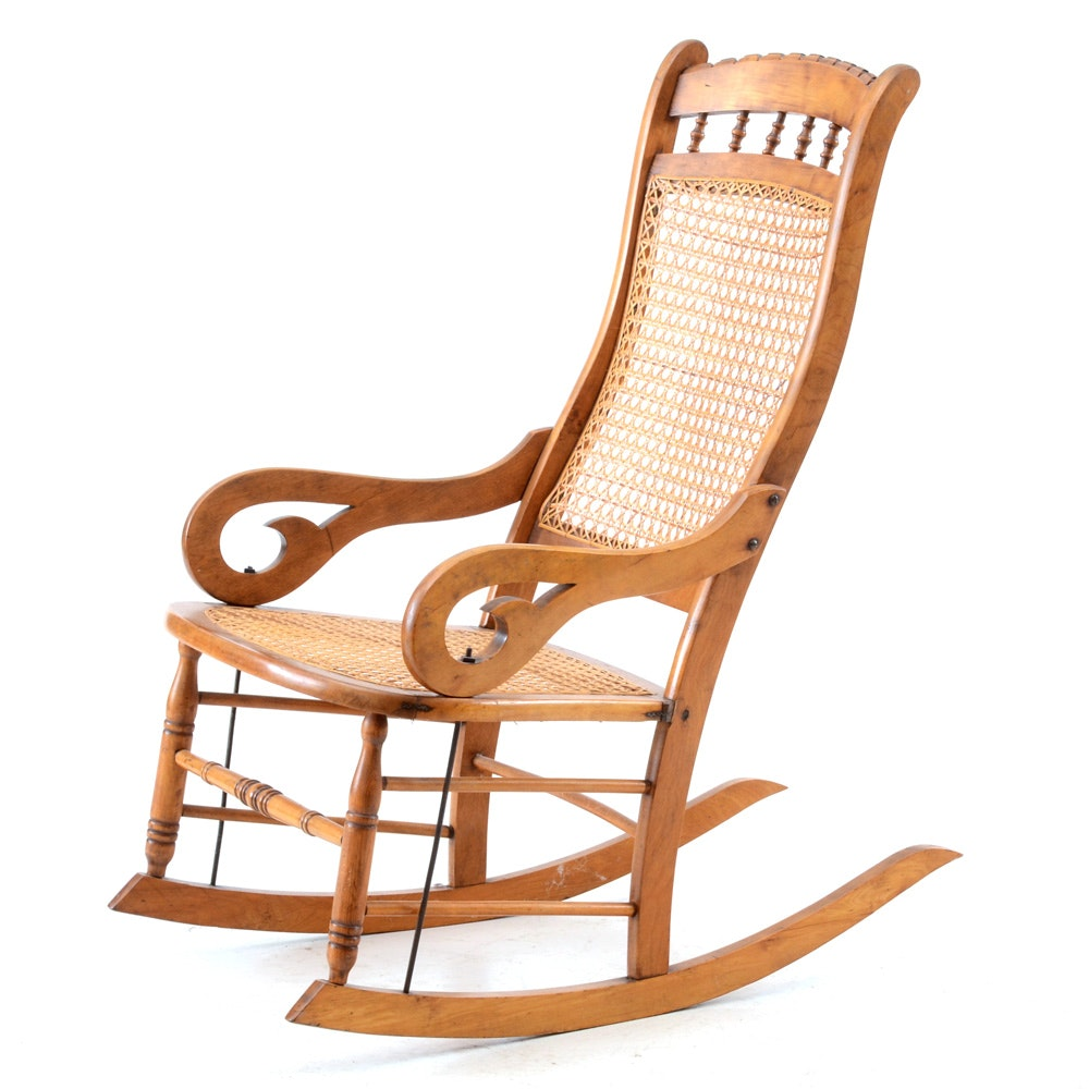 Hand-Caned Rocking Chair