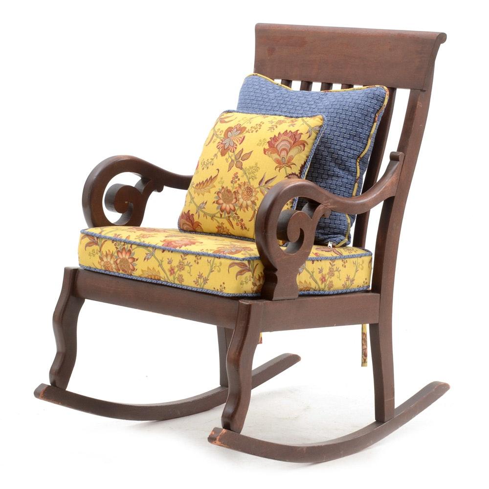 Vintage Cherry Rocking Chair