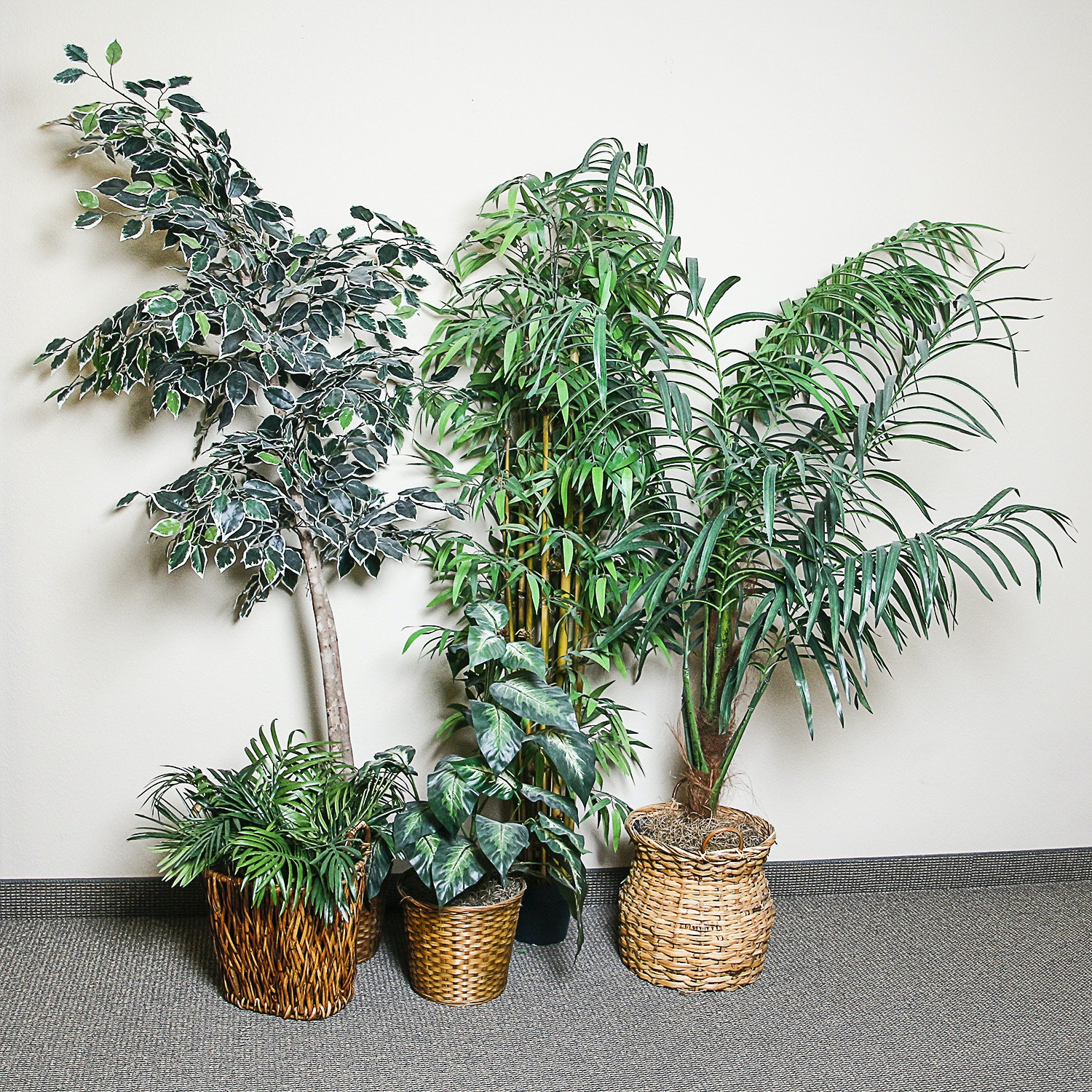 Artifical Trees and Plants in Basket Planters