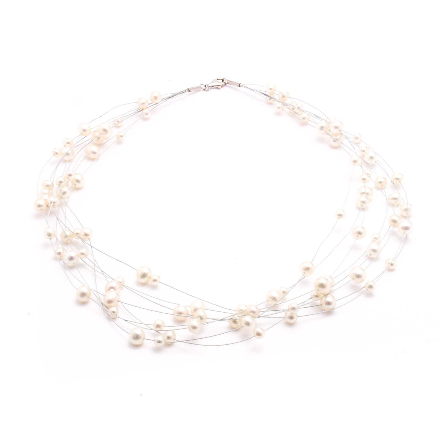 Cultured Freshwater Pearl Necklace with Sterling Silver Clasp