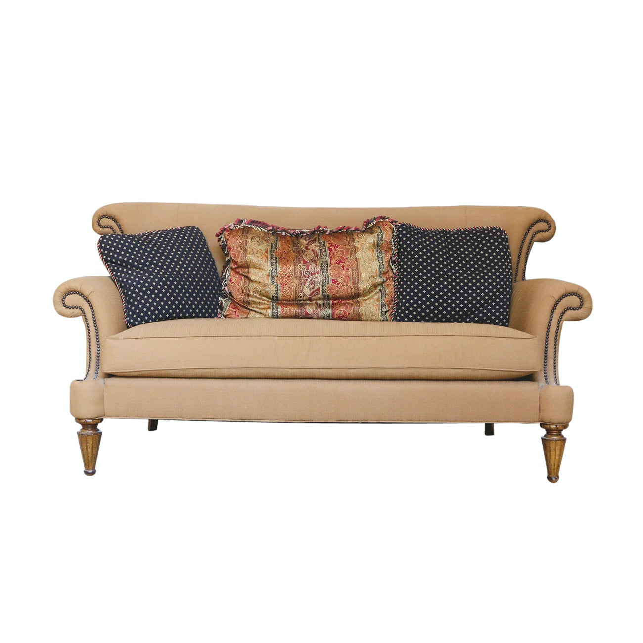 Wesley Hall English Rolled Arm Style Sofa