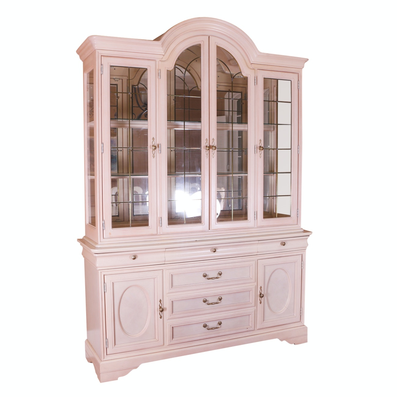 Traditional China Cabinet in White Finish by Lexington Furniture