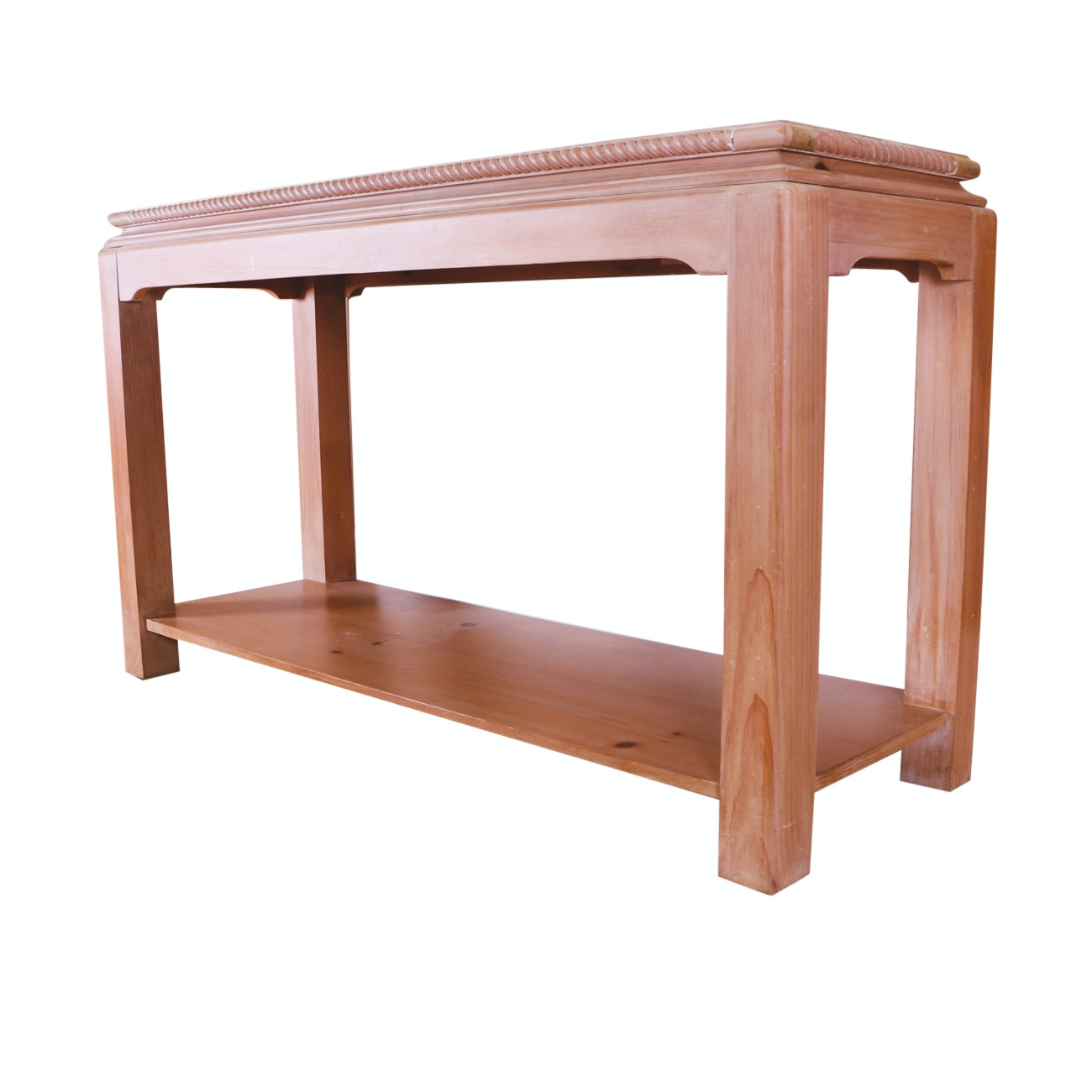 Pine Console Table with Rope Edge