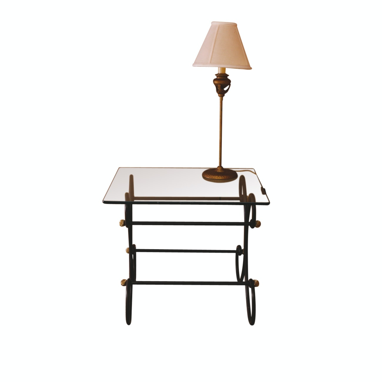 Contemporary Side Table and Lamp